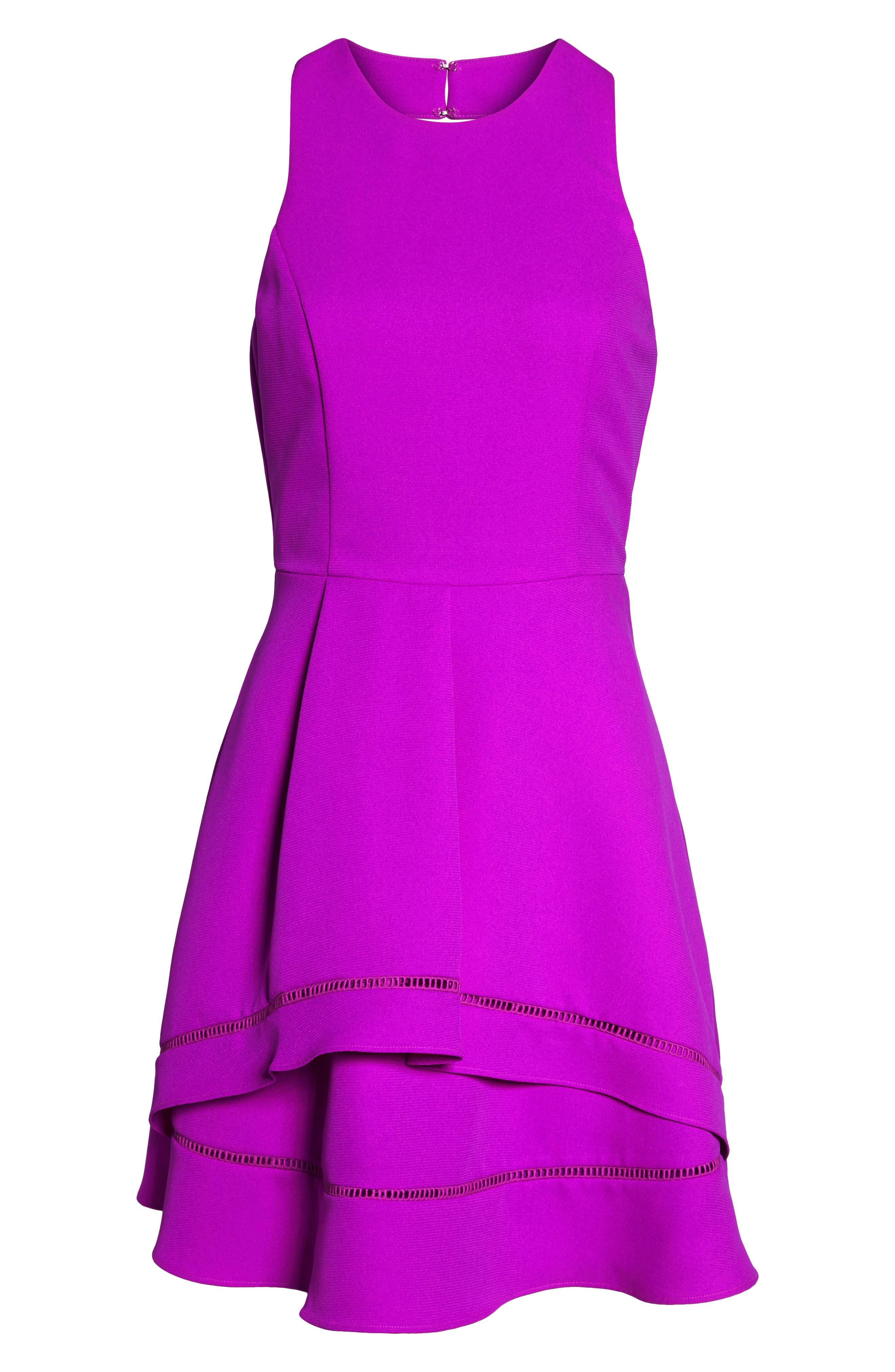 Gemma Fit & Flare Dress,                             Alternate thumbnail 13, color,