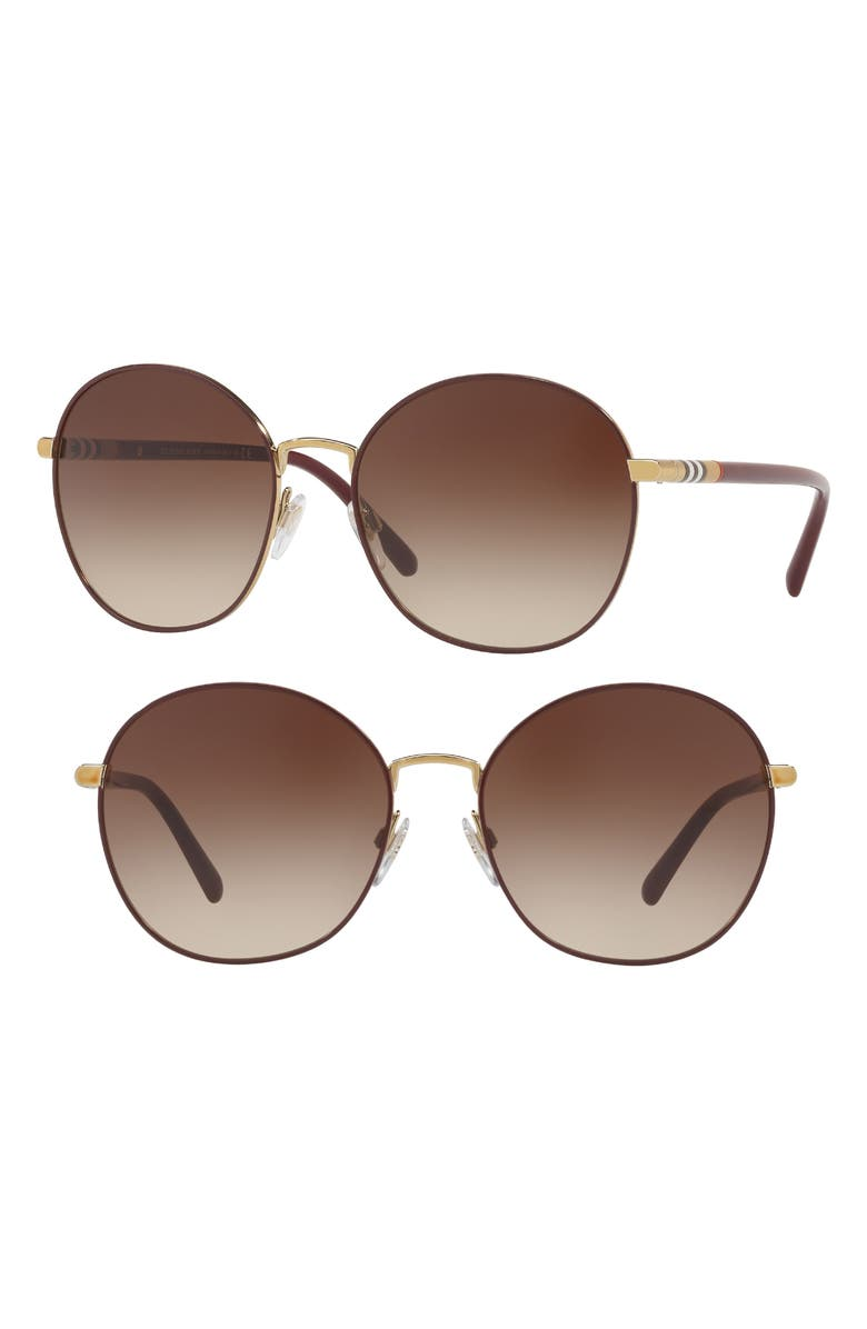 13adc838a8 Burberry 56mm Gradient Round Sunglasses