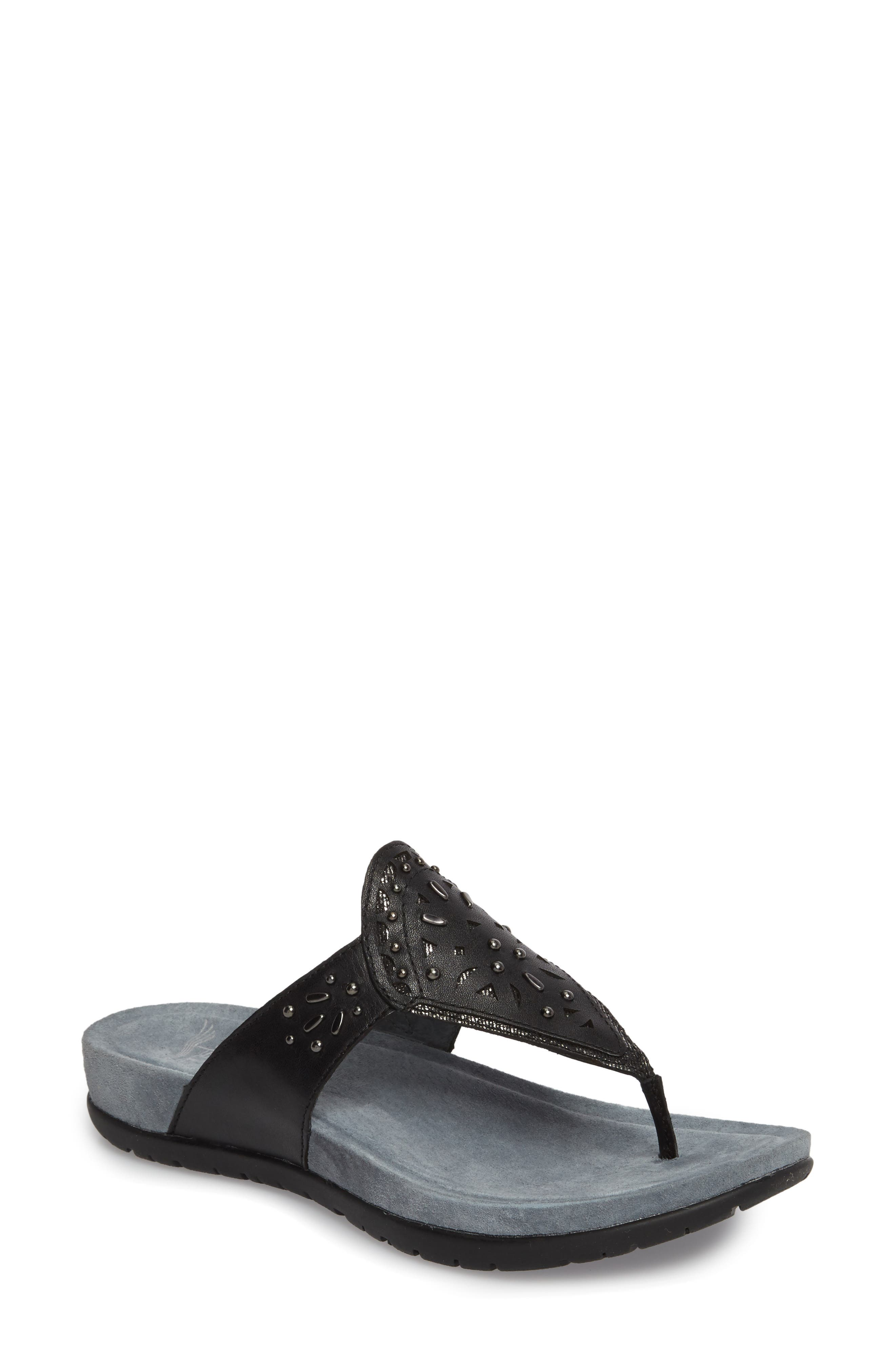 Benita Embellished Flip Flop,                         Main,                         color, 001