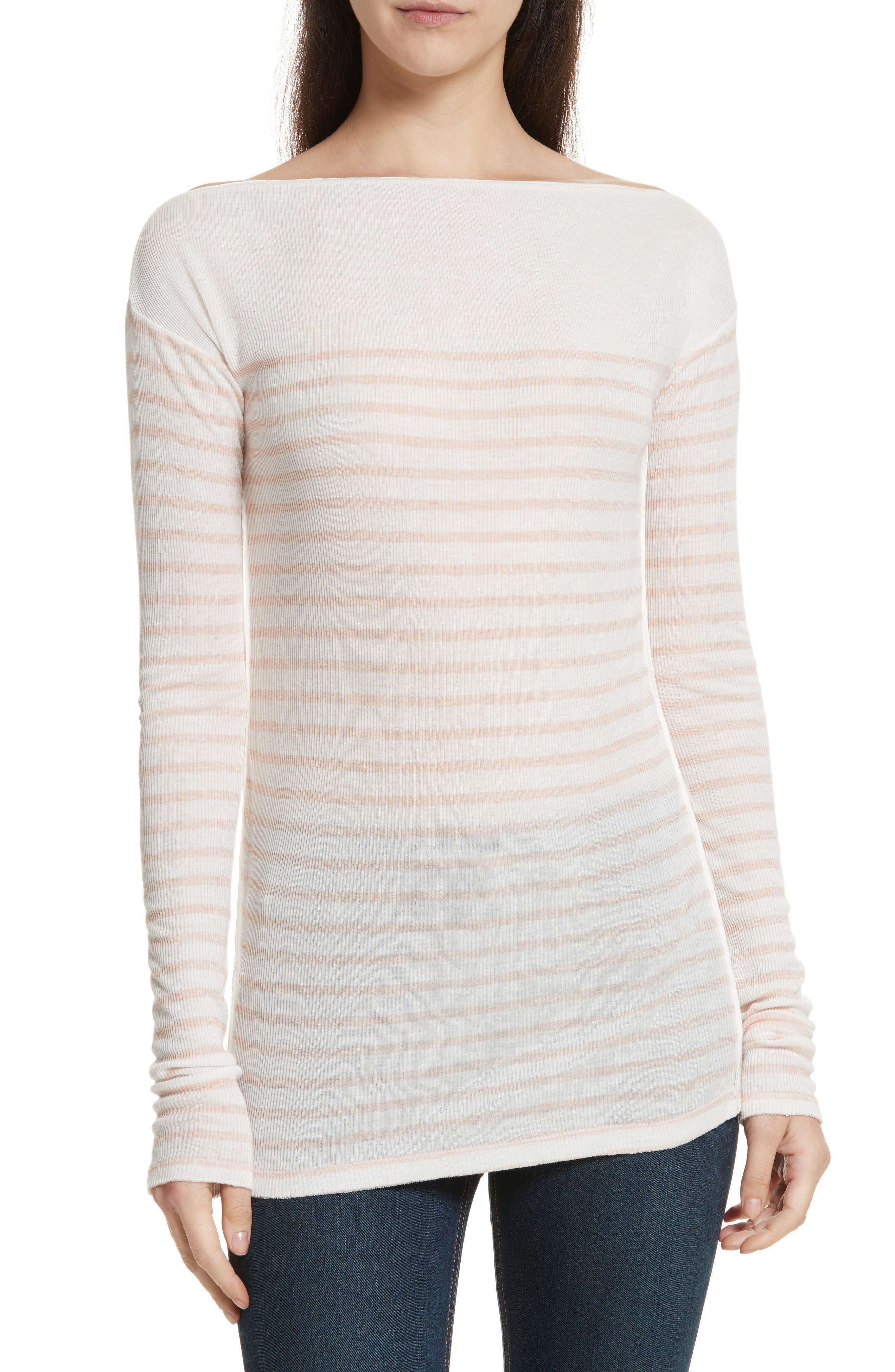 Madison Stripe Long Sleeve Top,                         Main,                         color, 900