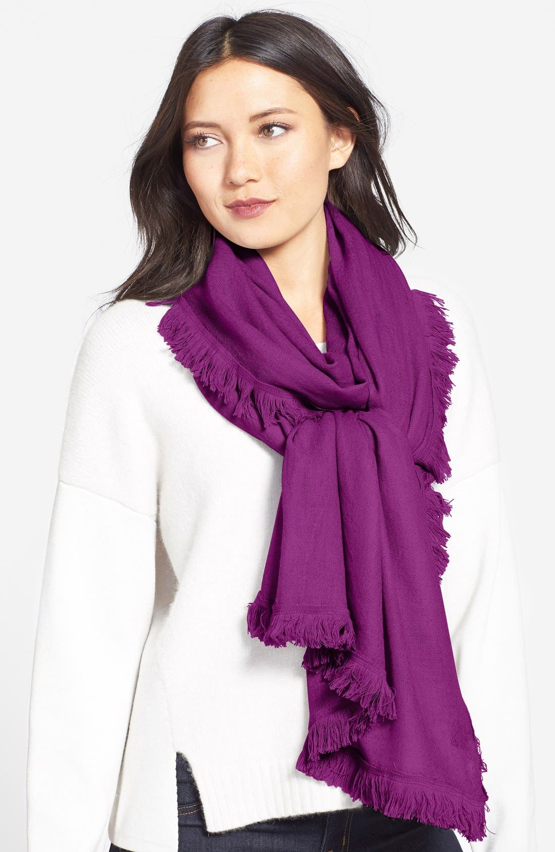 Wool & Cashmere Scarf,                             Main thumbnail 5, color,