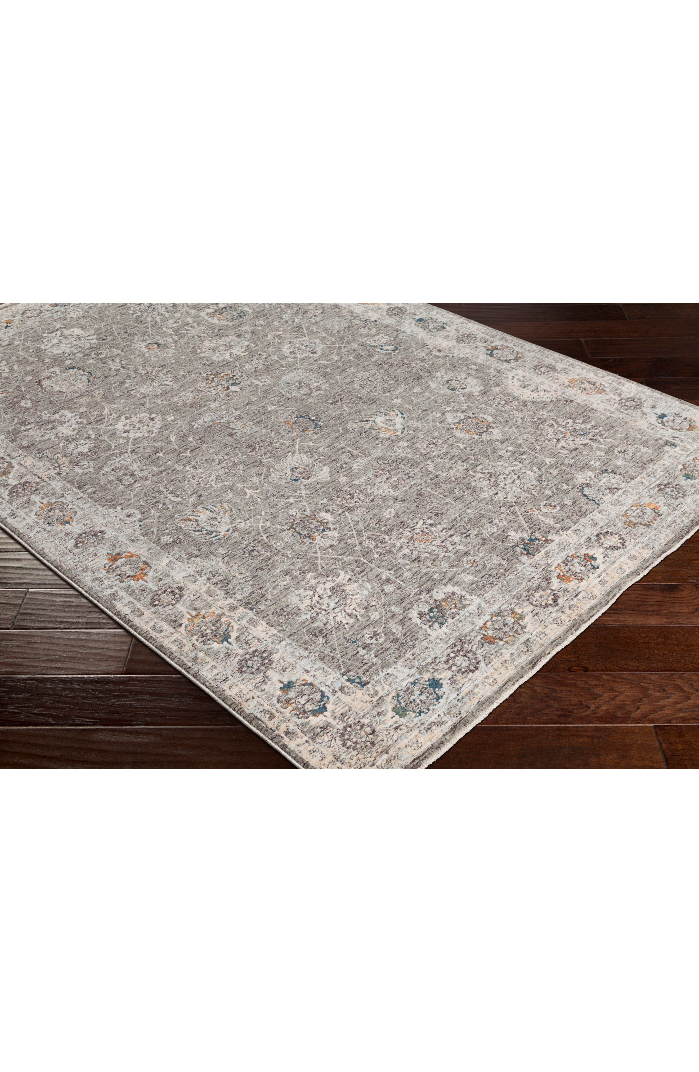 Presidential Floral Border Area Rug,                             Alternate thumbnail 6, color,                             200