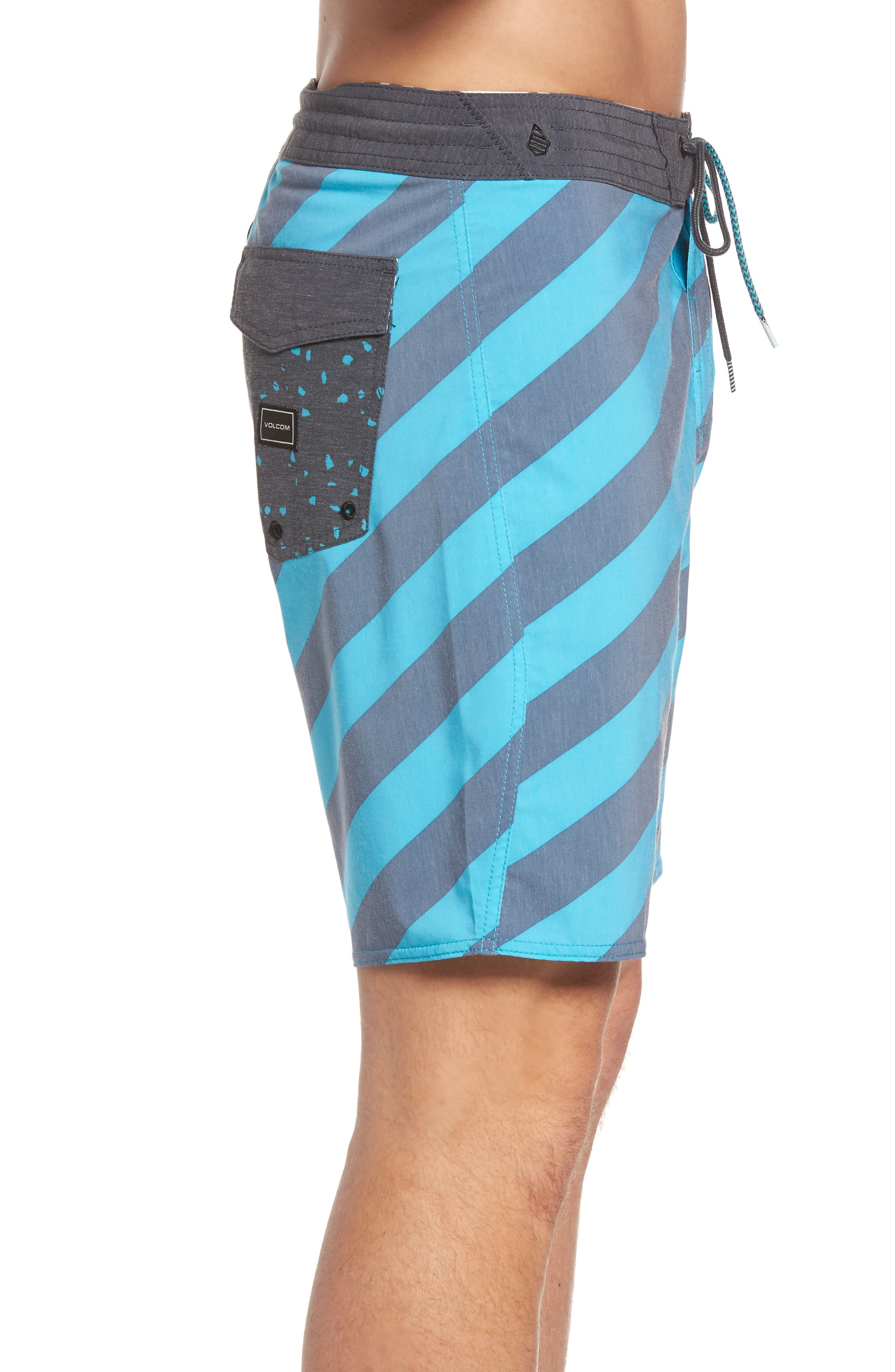 Stripey Slinger Board Shorts,                             Alternate thumbnail 22, color,