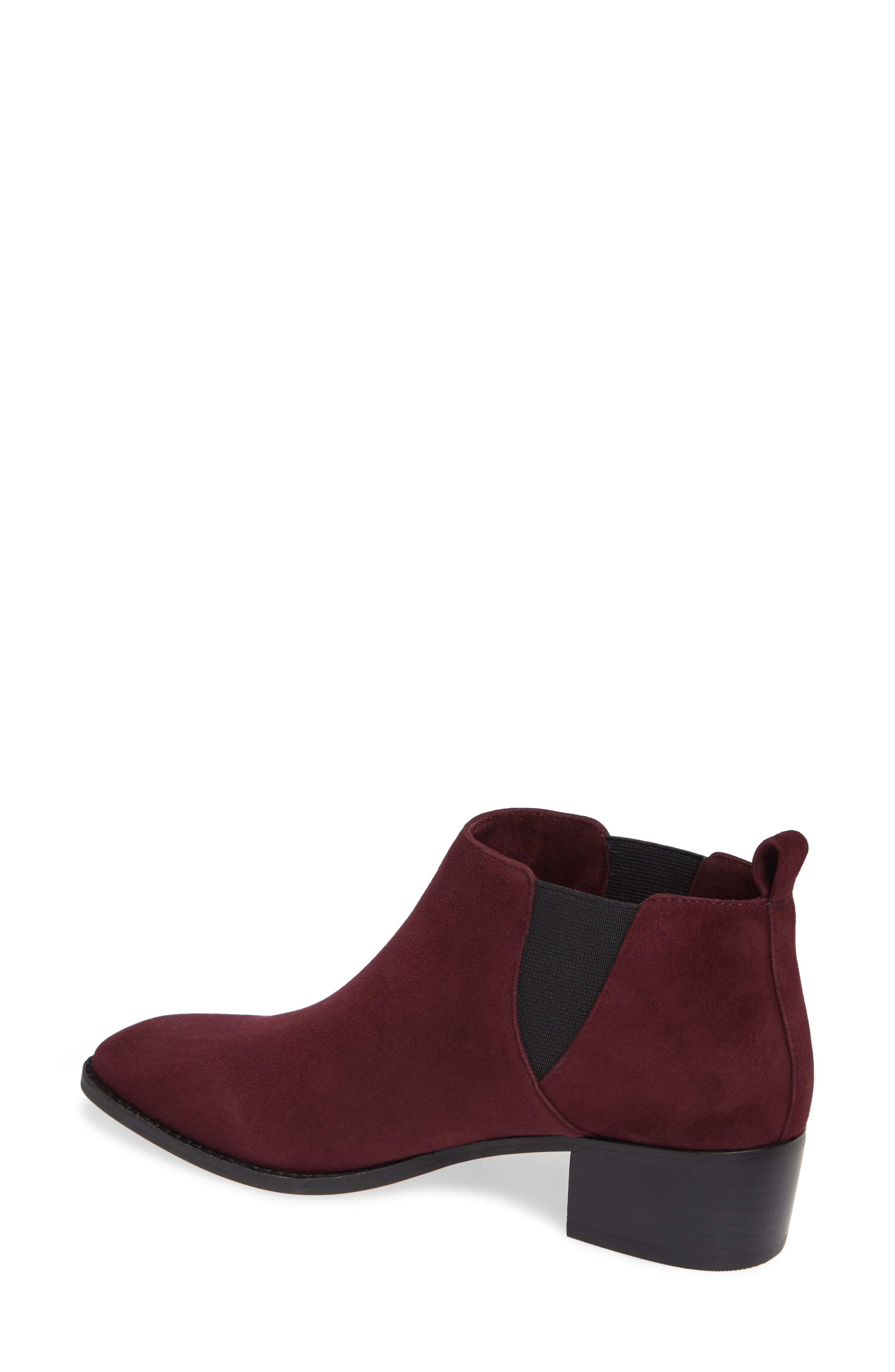 Jahlily Chelsea Bootie,                             Alternate thumbnail 2, color,                             DARK PLUM SUEDE