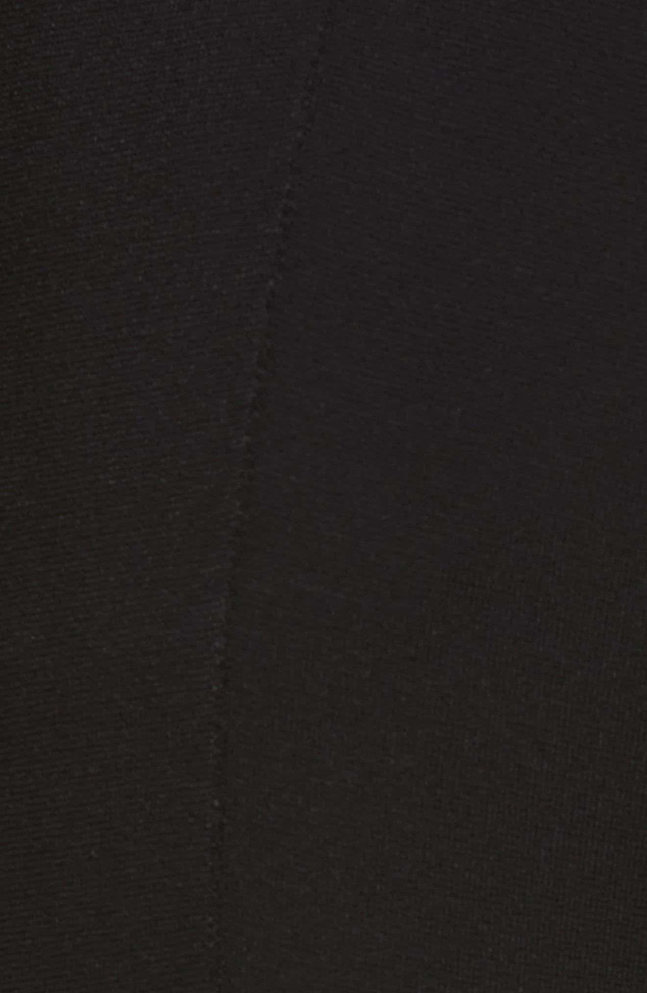 Compact Knit Crop Flare Pants,                             Alternate thumbnail 5, color,                             001