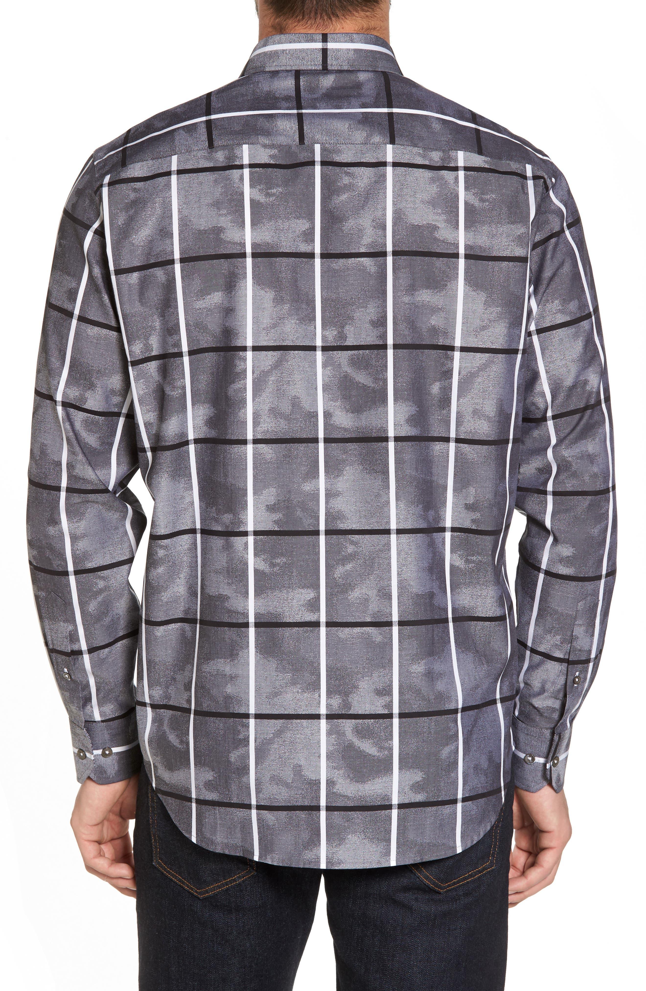 Regular Fit Camo Grid Sport Shirt,                             Alternate thumbnail 2, color,                             020