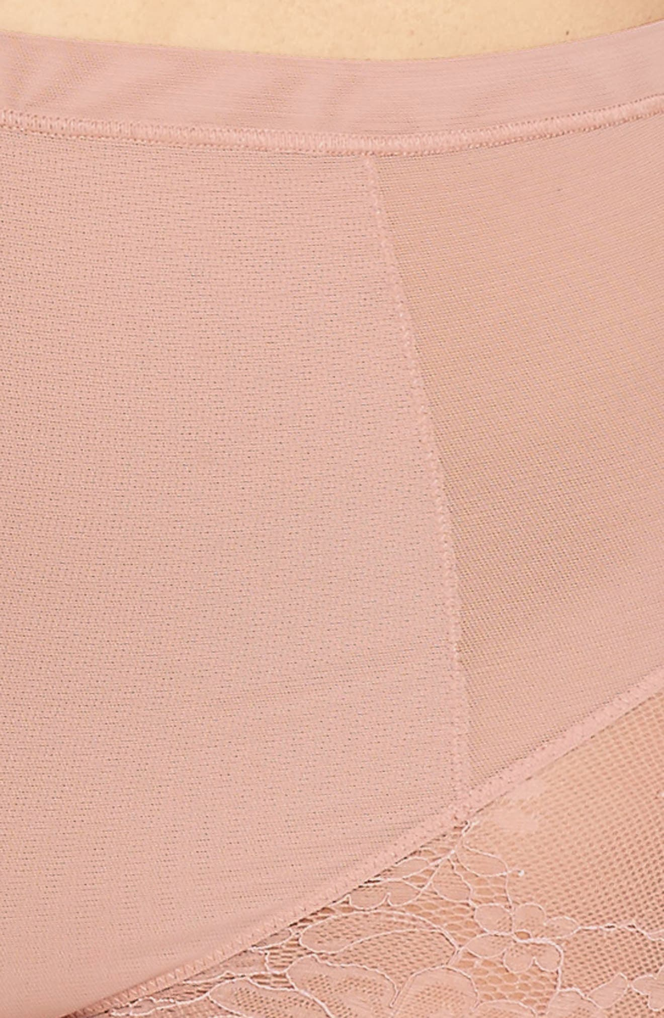 SPANX<SUP>®</SUP>,                             On Lace Briefs,                             Alternate thumbnail 4, color,                             VINTAGE ROSE