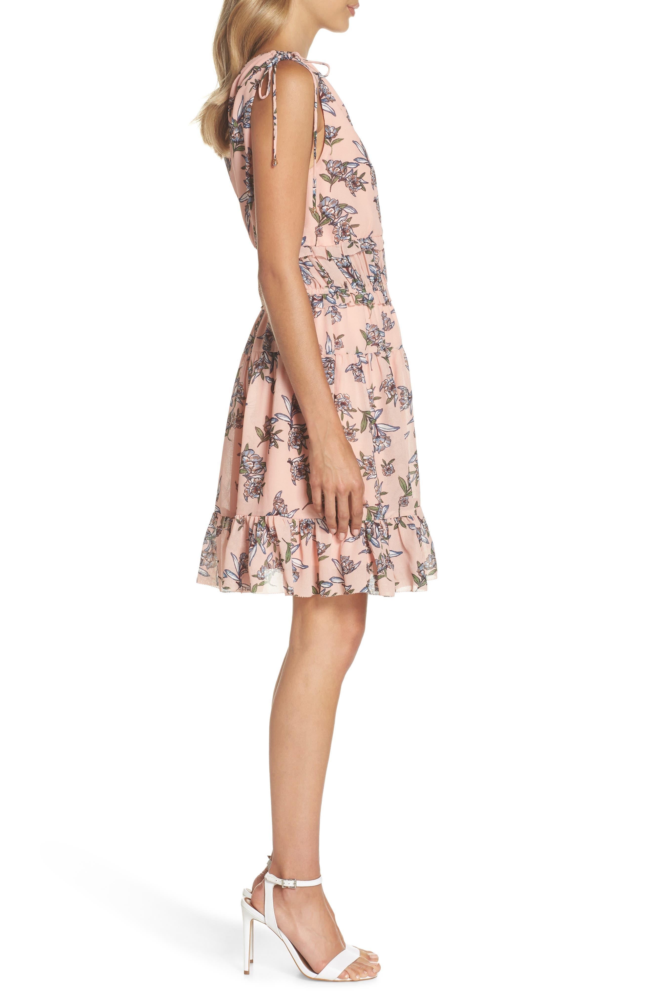Jax Floral Dress,                             Alternate thumbnail 3, color,