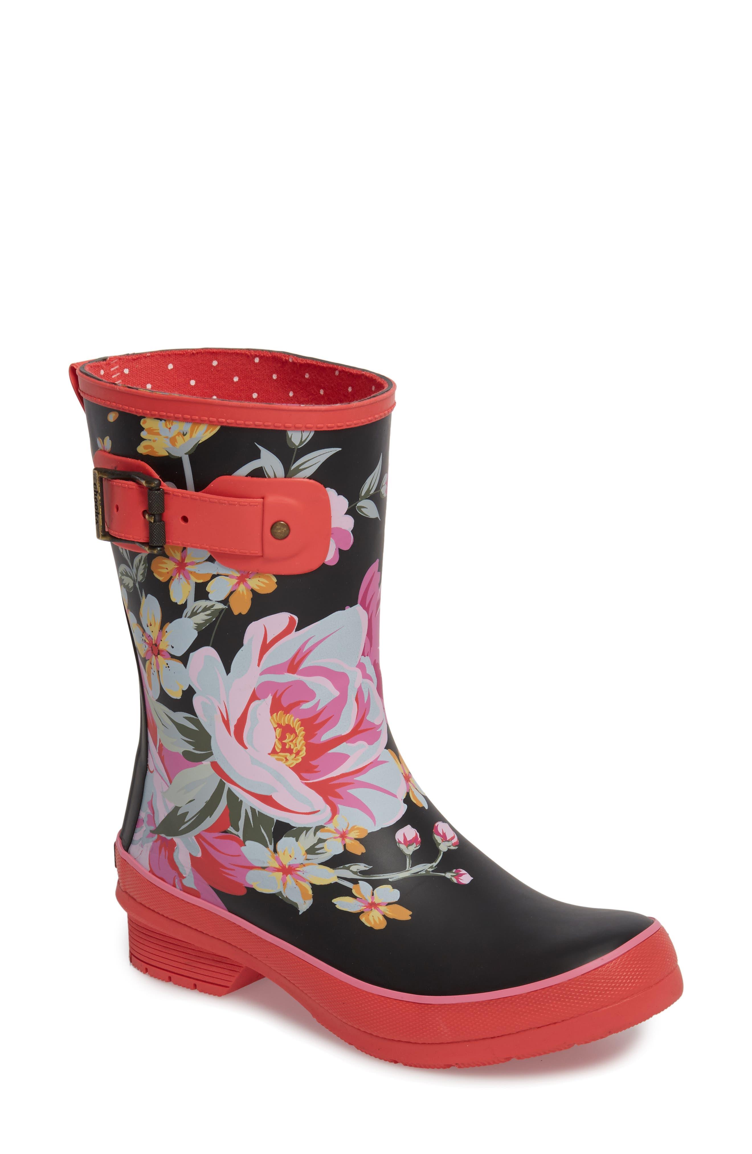 Hilde Mid Rain Boot,                         Main,                         color, FUCHSIA