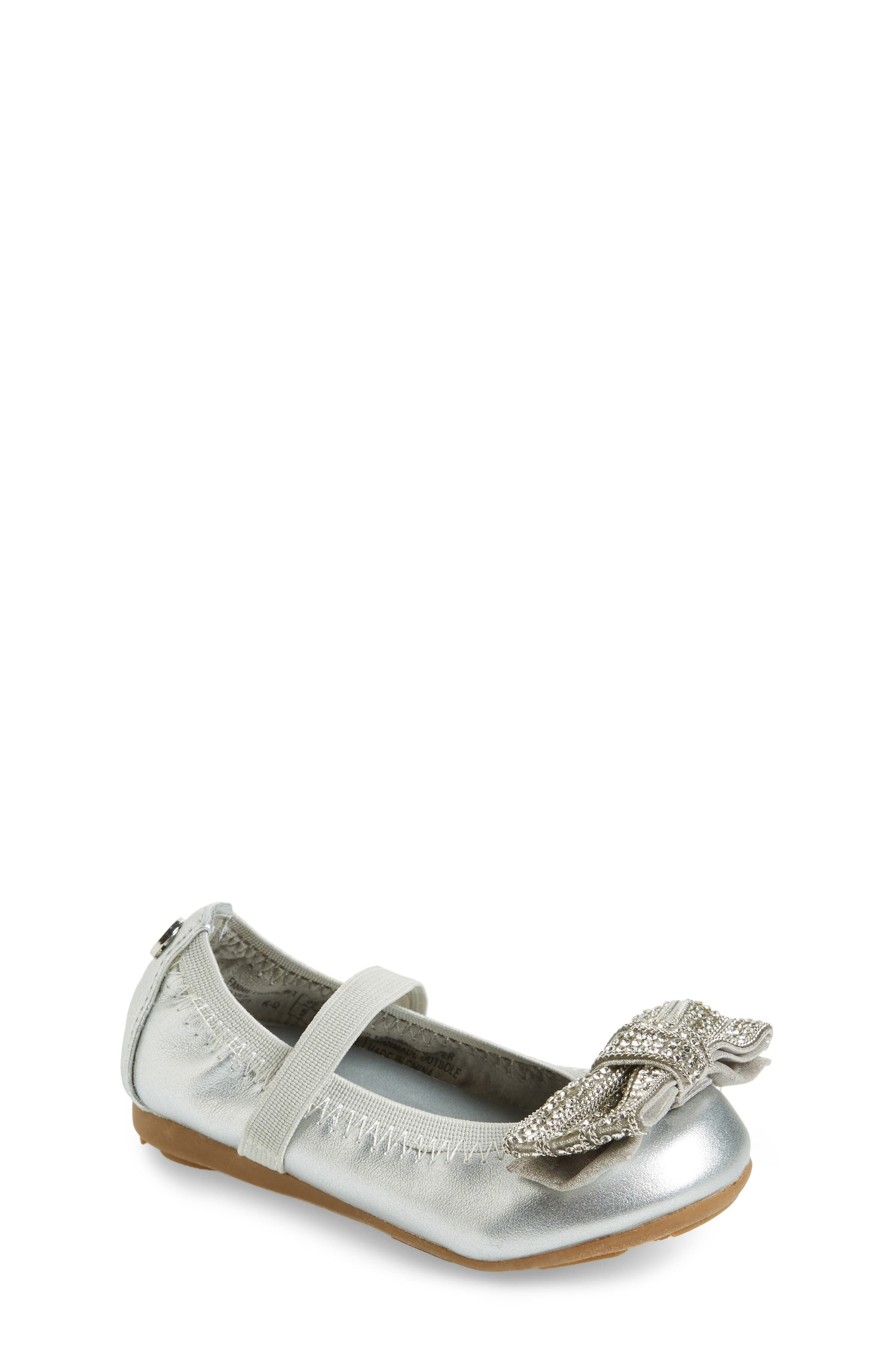 Fannie Embellished Bow Mary Jane Flat,                         Main,                         color,