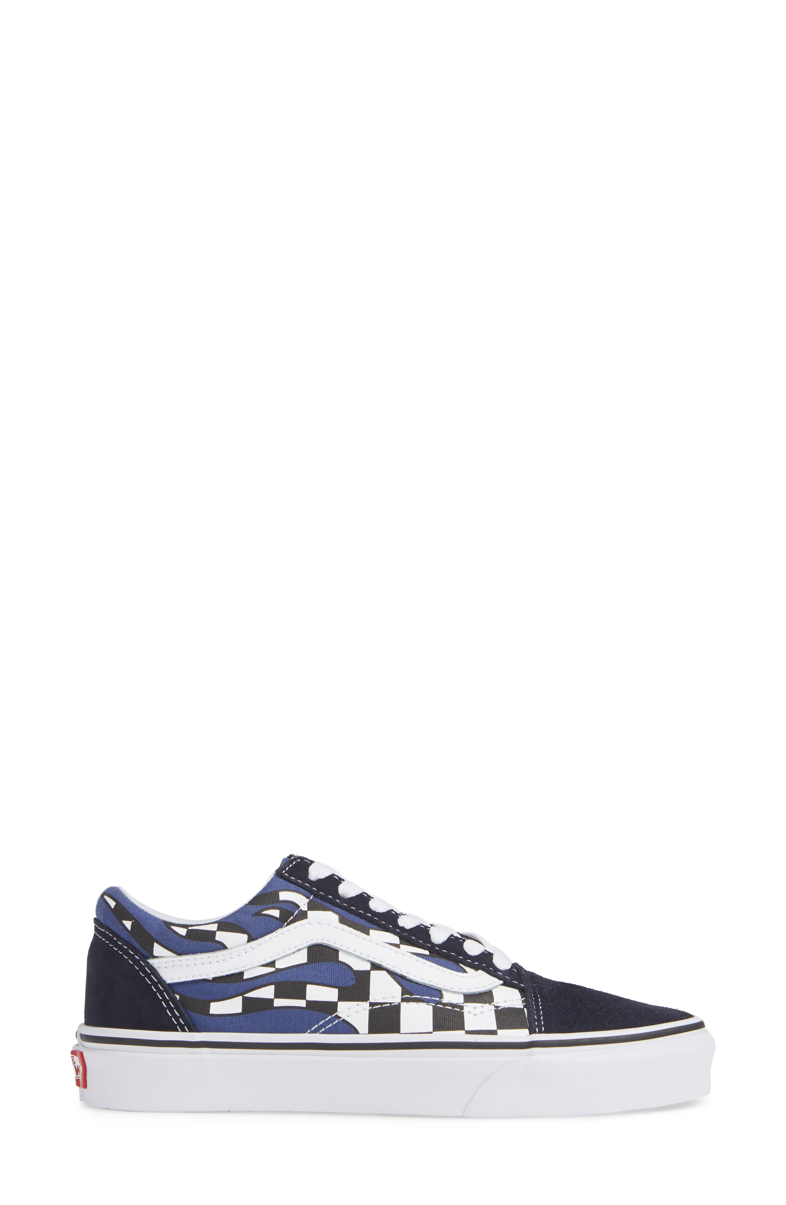 Old Skool Sneaker,                             Alternate thumbnail 3, color,                             NAVY/ TRUE WHITE LEATHER