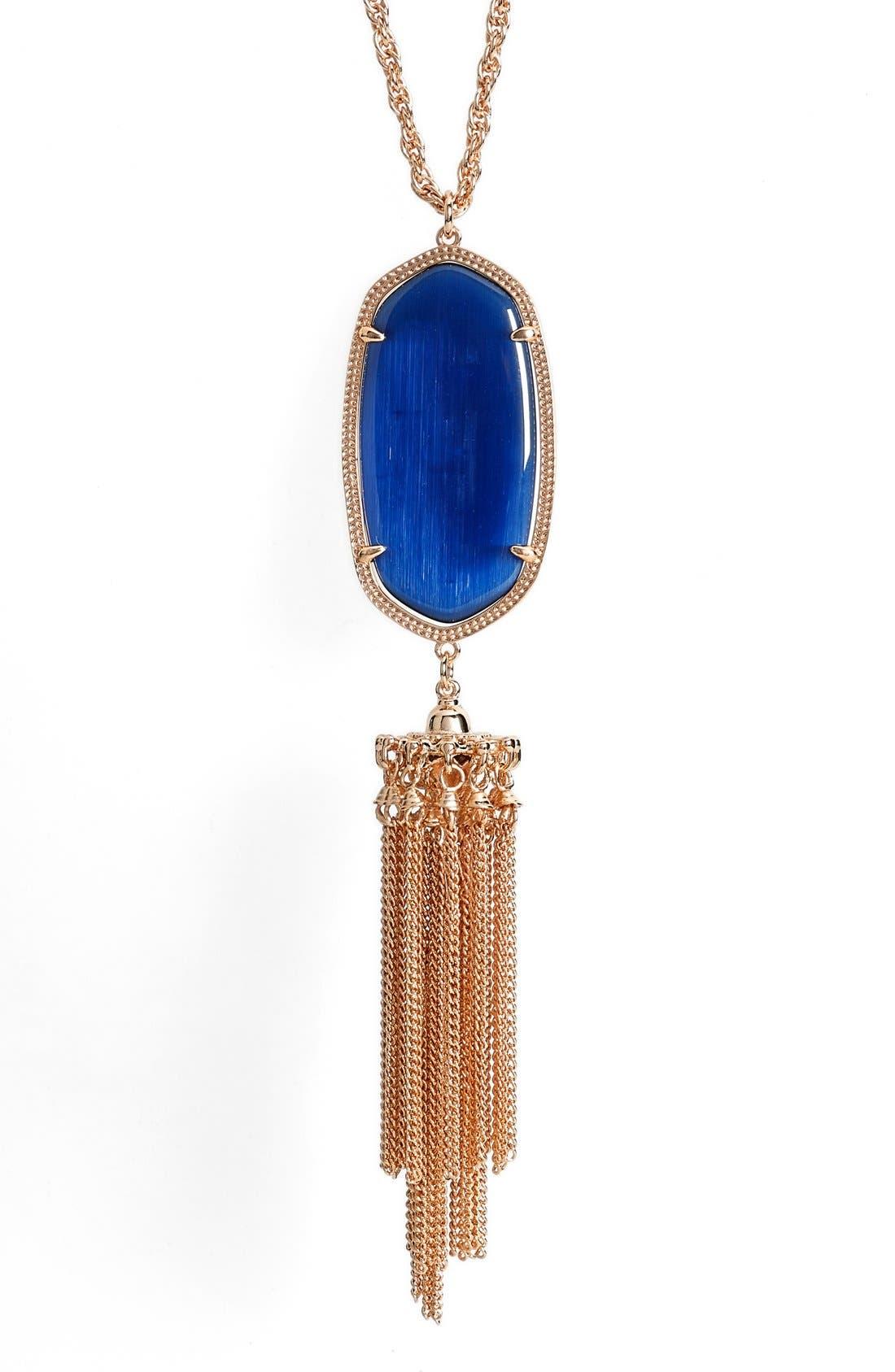 Rayne Stone Tassel Pendant Necklace,                             Alternate thumbnail 123, color,