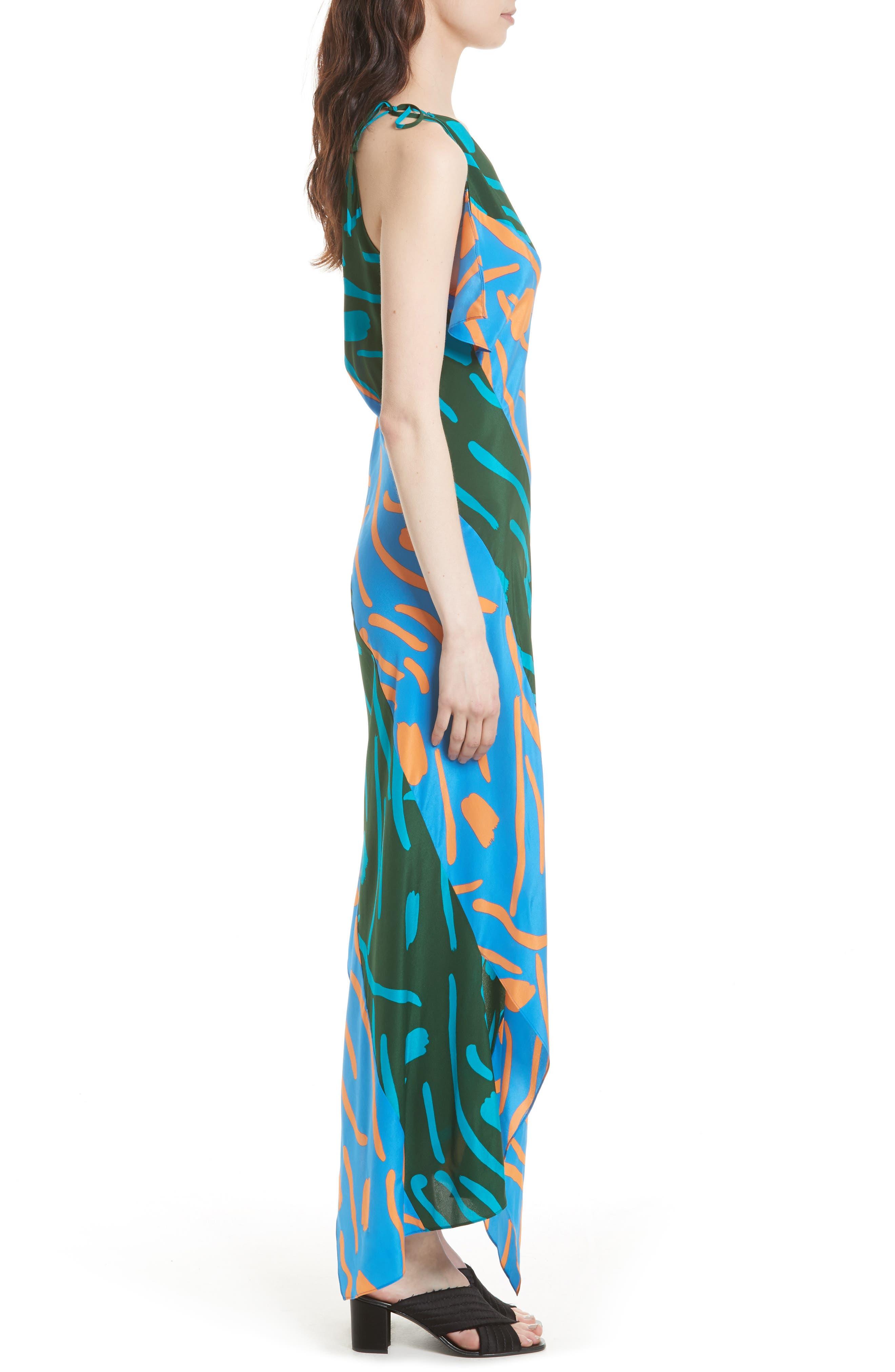 Diane von Furstenberg Silk Maxi Dress,                             Alternate thumbnail 3, color,                             440