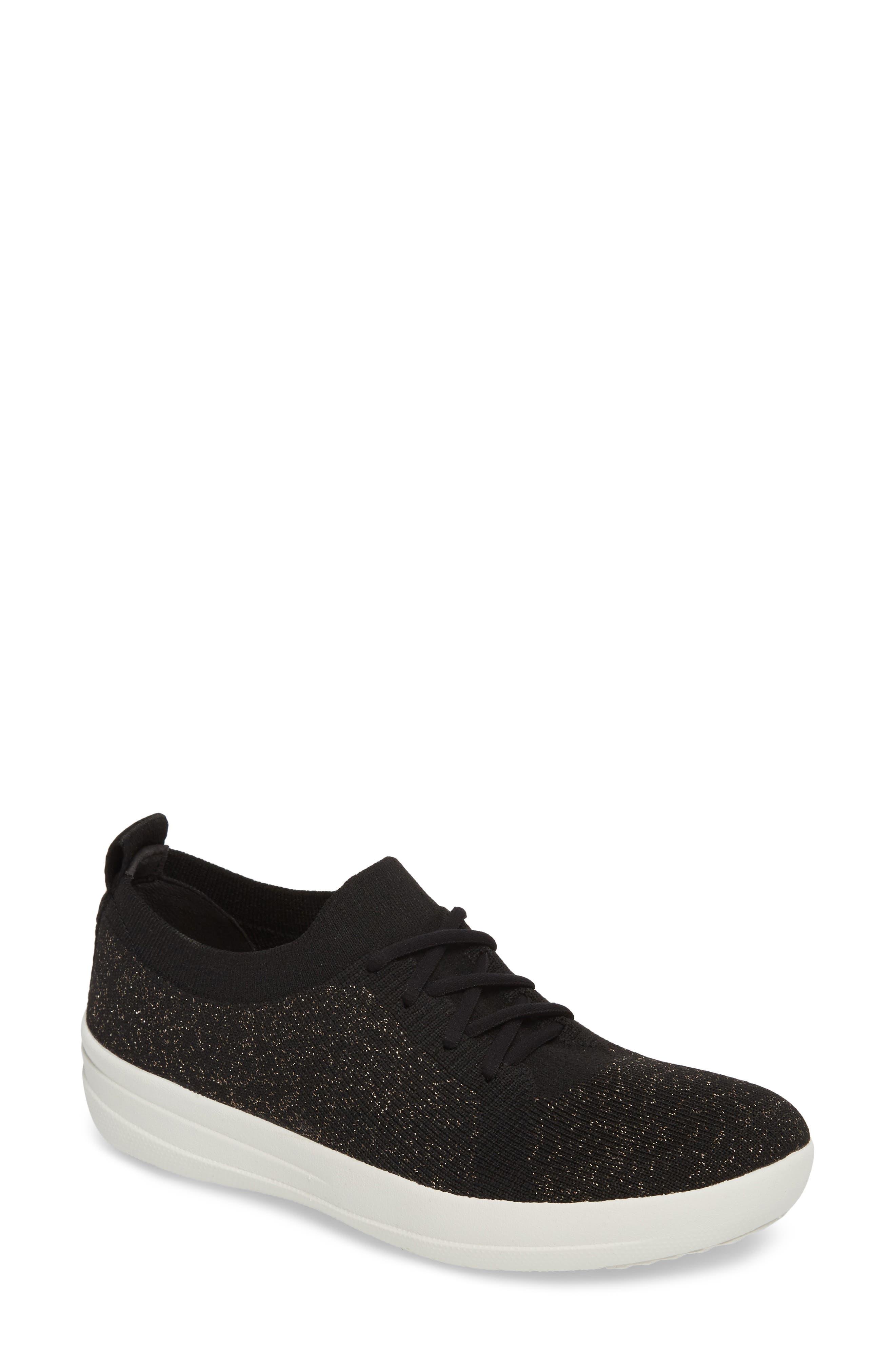 Uberknit<sup>™</sup> F-Sporty Sneaker,                         Main,                         color, BLACK FABRIC