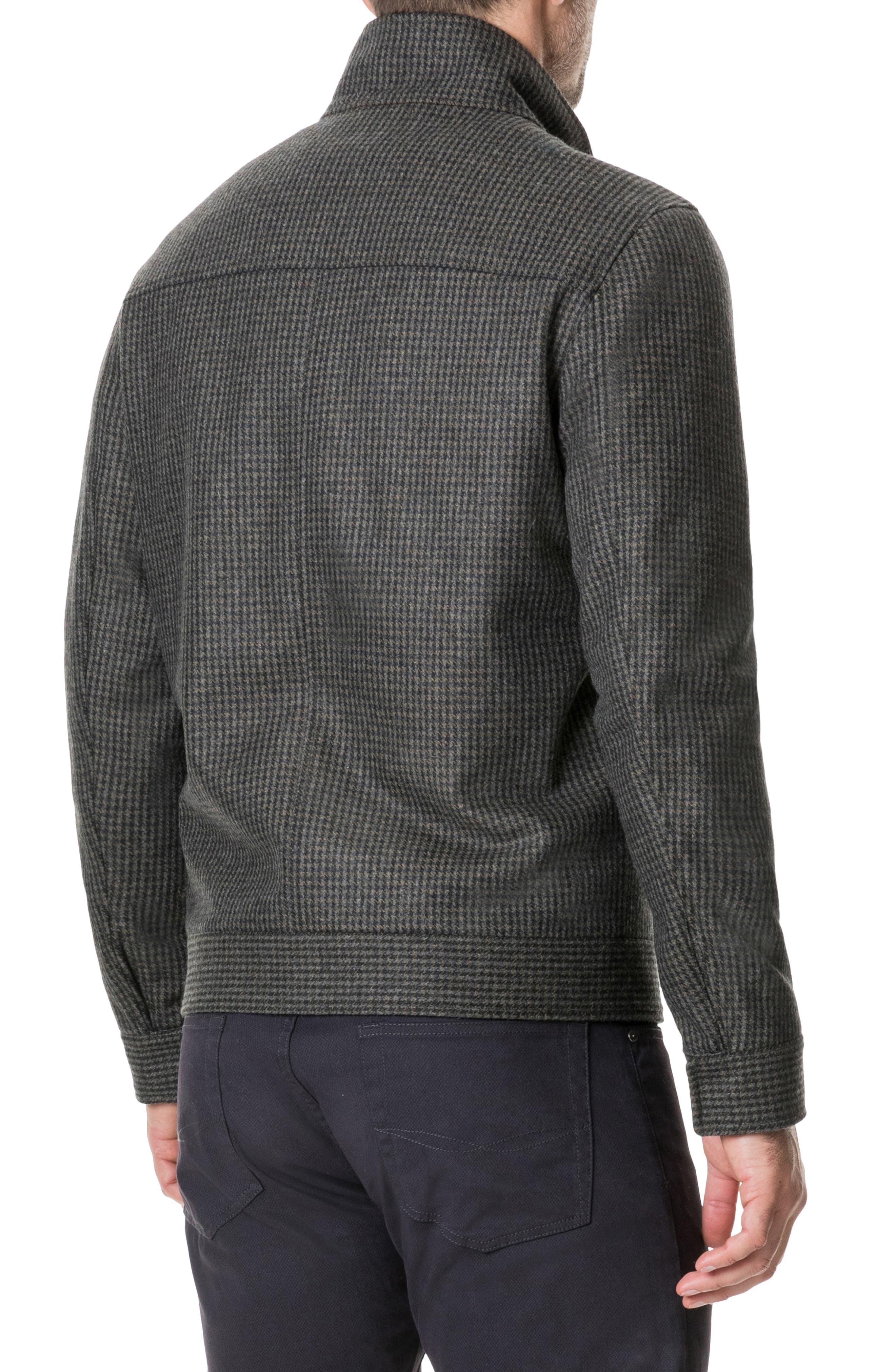 Oyster Cove Regular Fit Wool Blend Jacket,                             Alternate thumbnail 2, color,                             OLIVE