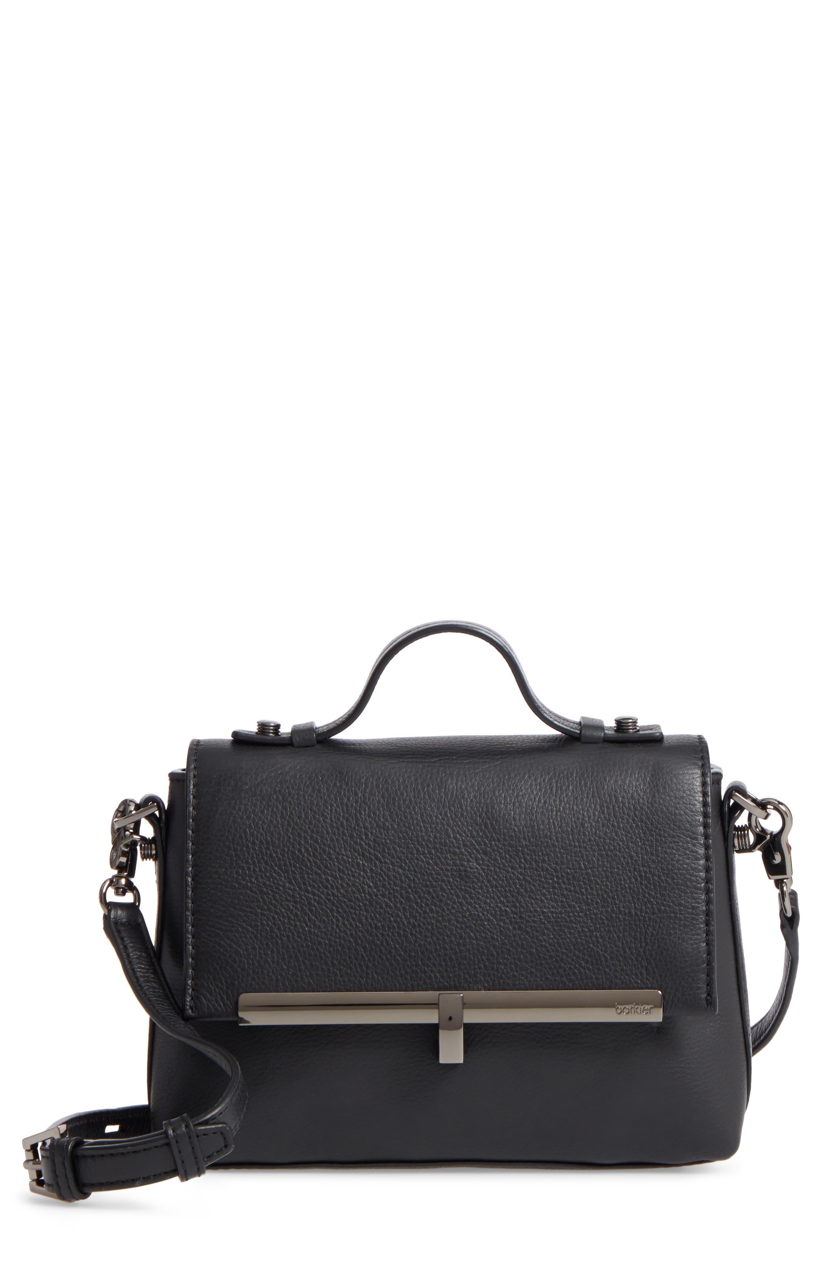 Bleeker Leather Top Handle Satchel,                         Main,                         color, 004