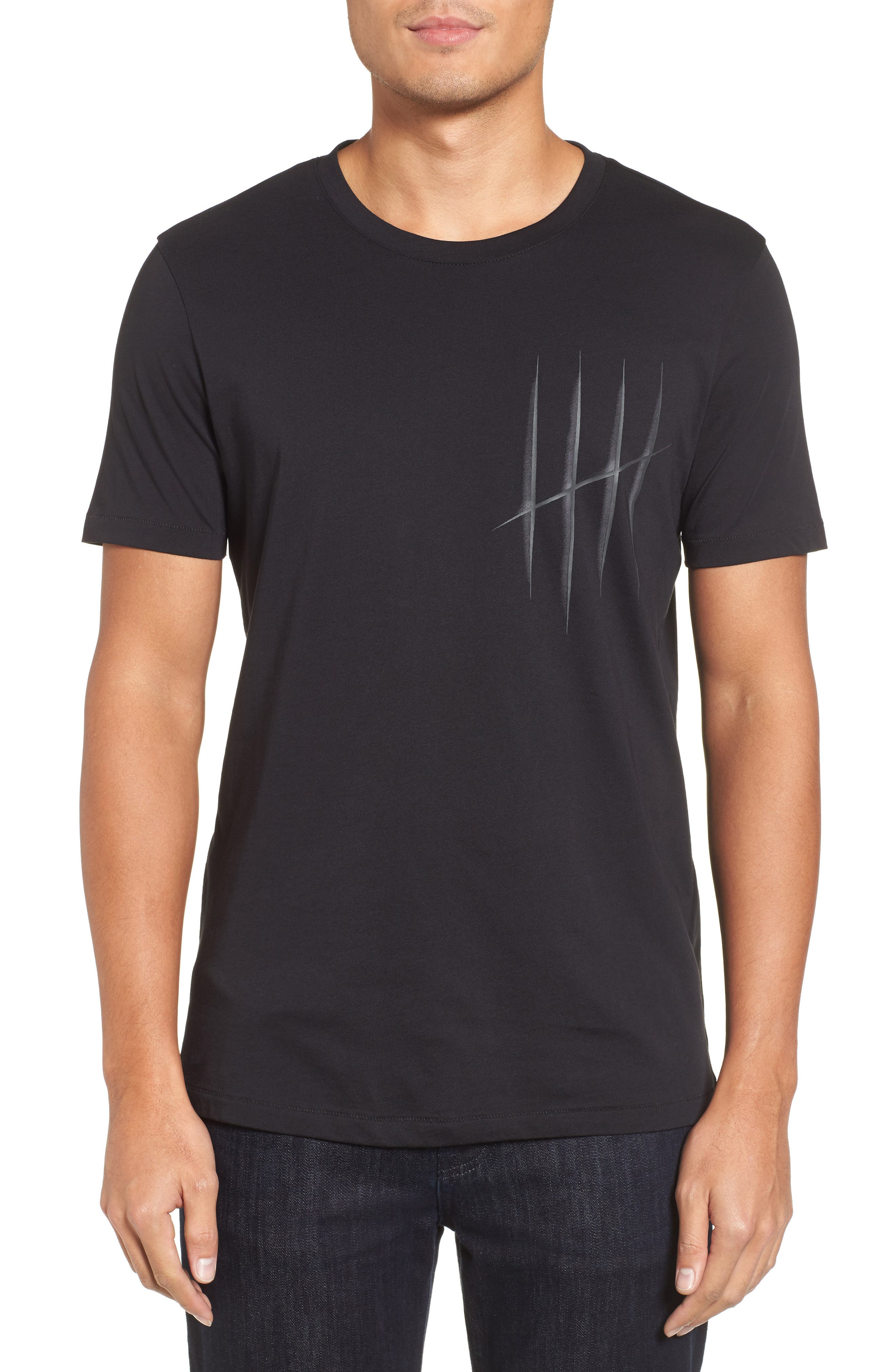 Hugo Boss Drison Hashmark Graphic T-Shirt,                             Main thumbnail 1, color,                             001