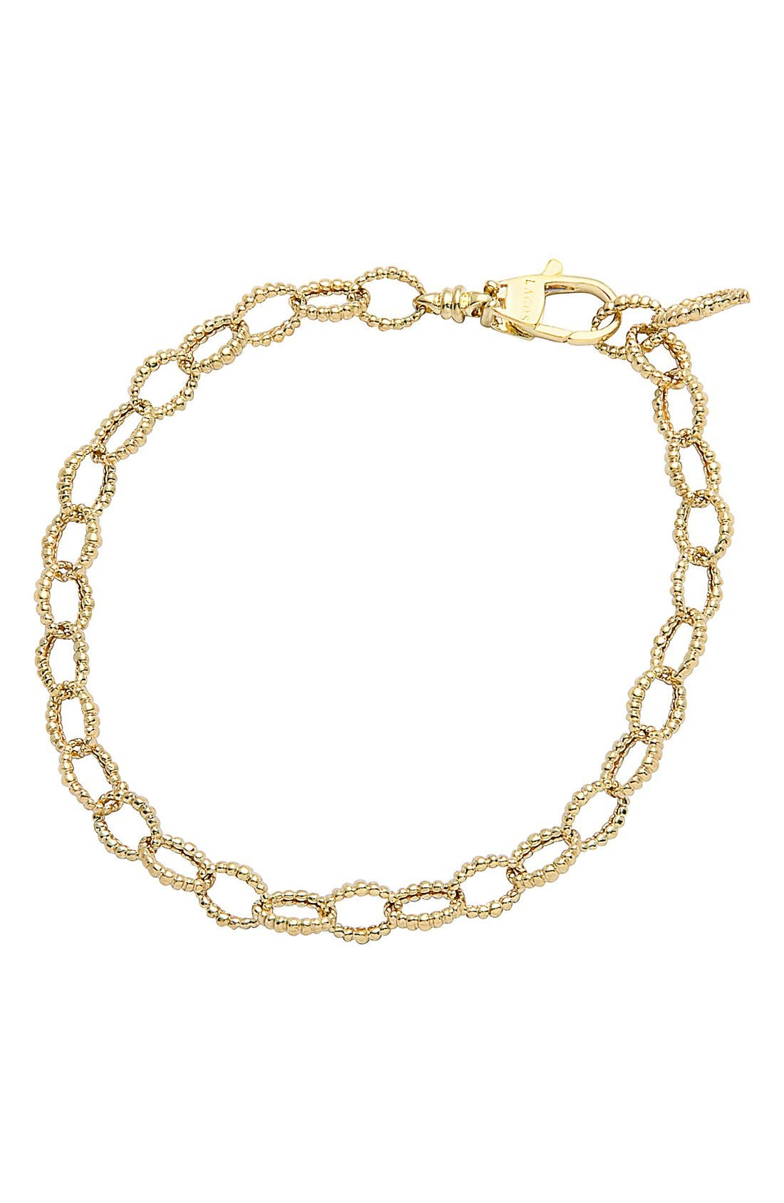 Caviar Link Bracelet,                             Main thumbnail 1, color,                             GOLD