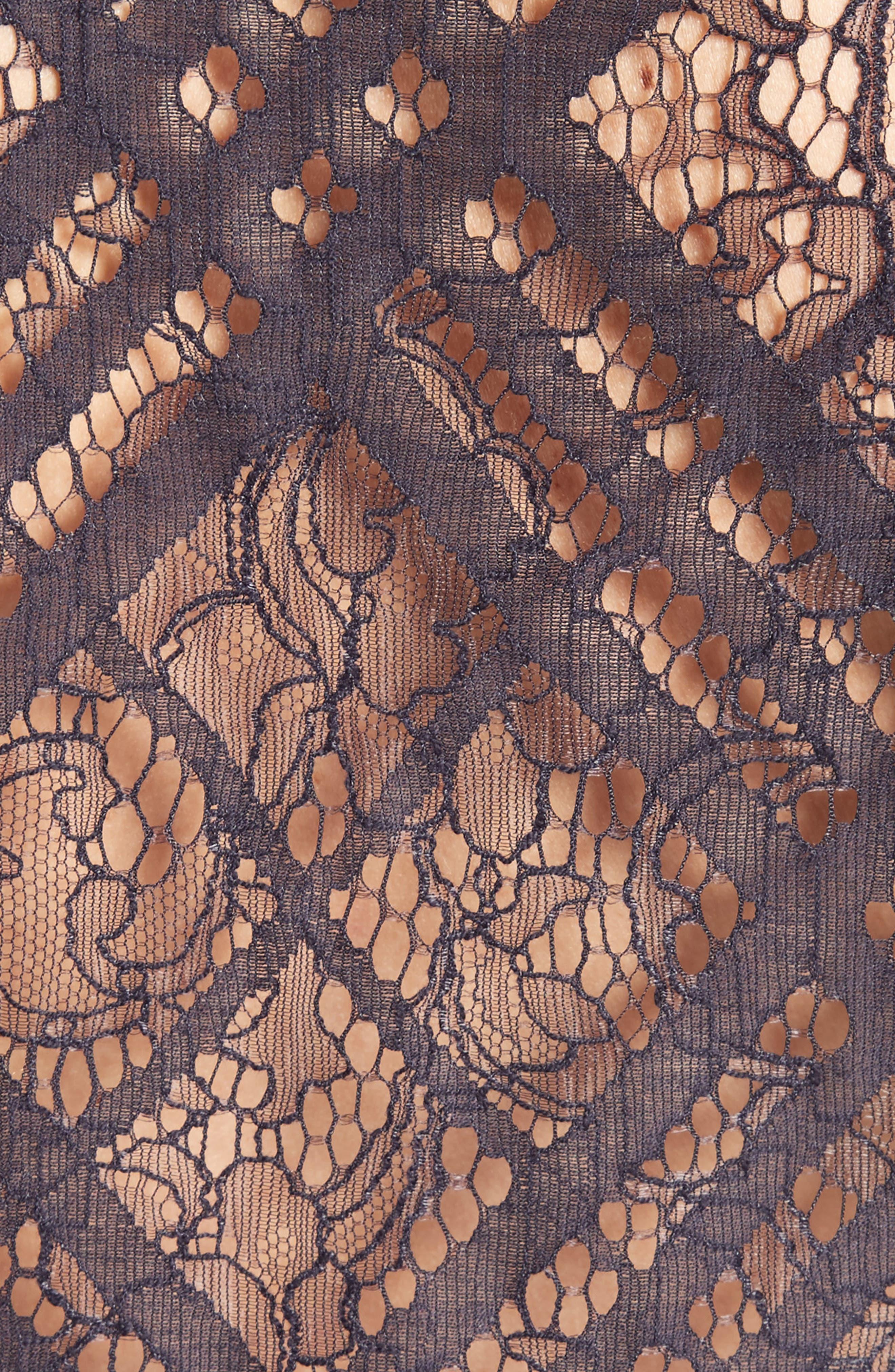 Aster Check Lace Shirt,                             Alternate thumbnail 5, color,                             410