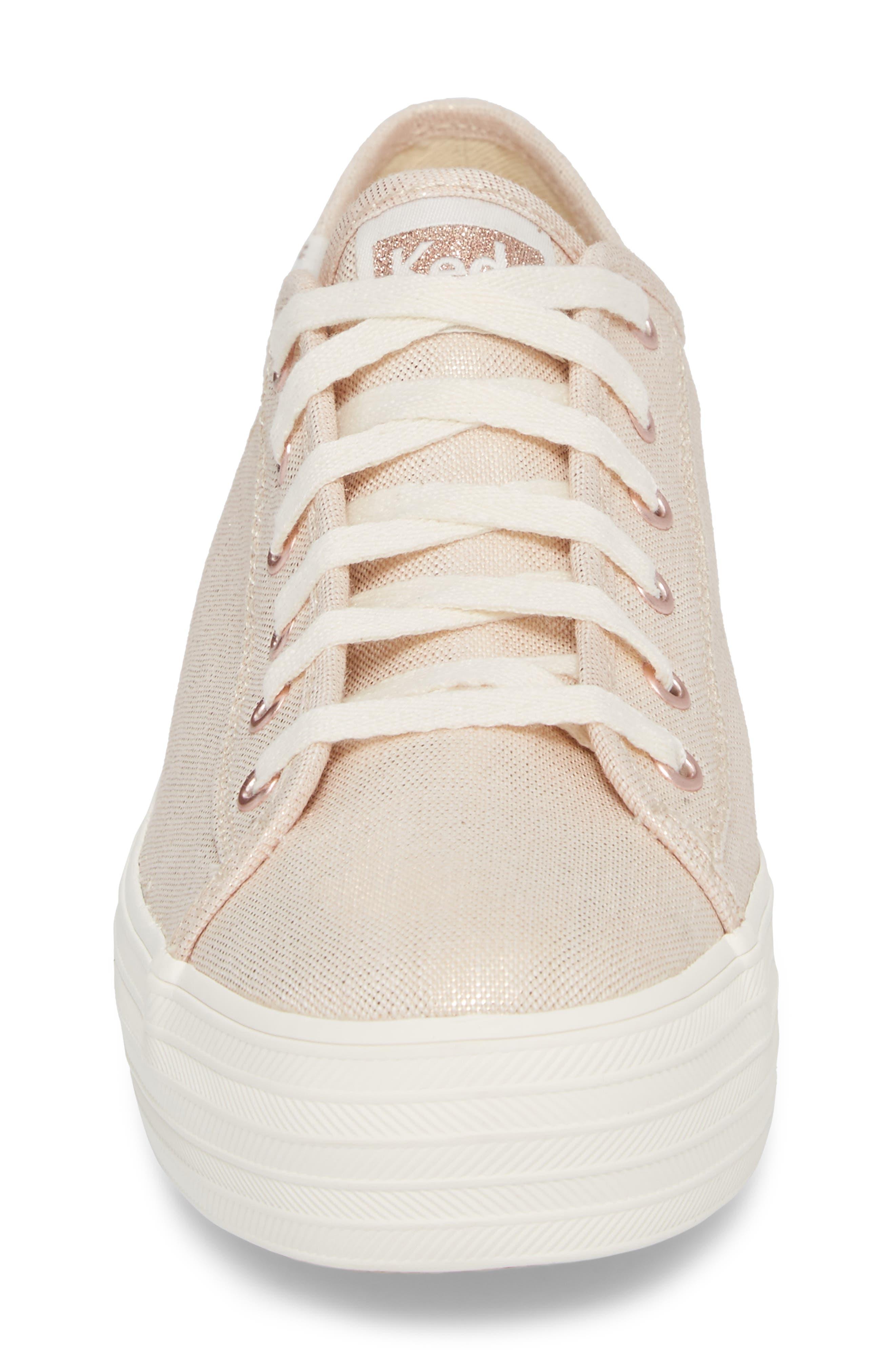Triple Kick Metallic Linen Sneaker,                             Alternate thumbnail 8, color,