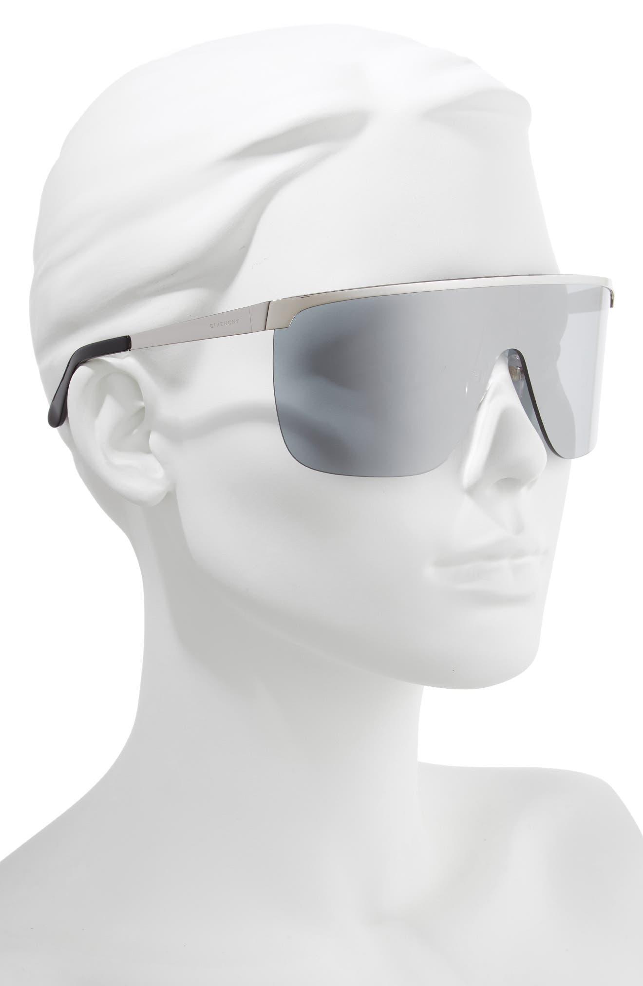 70mm Rimless Shield Sunglasses,                             Alternate thumbnail 2, color,                             PALLADIUM
