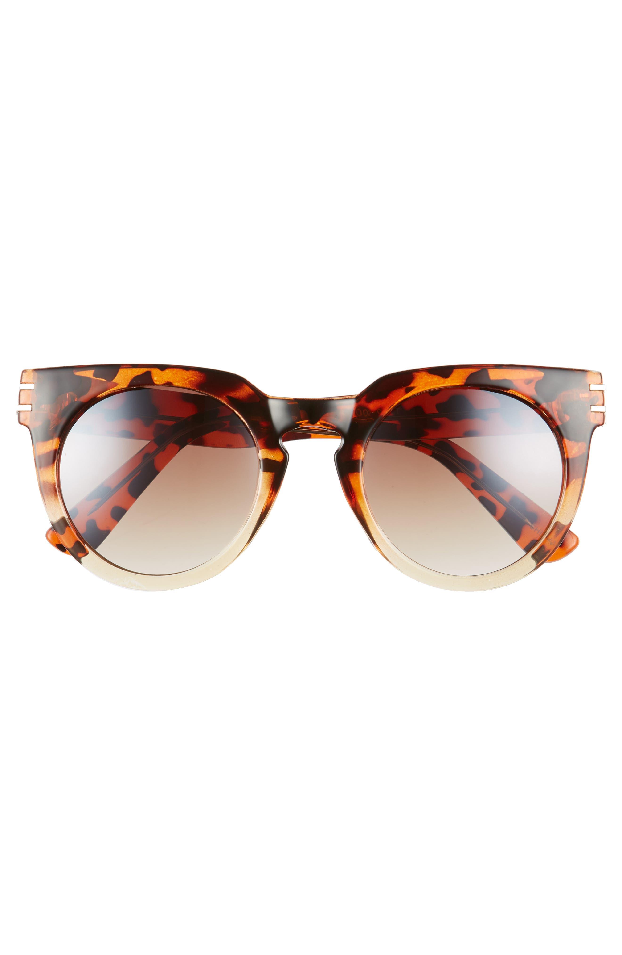 50mm Round Sunglasses,                             Alternate thumbnail 3, color,                             200
