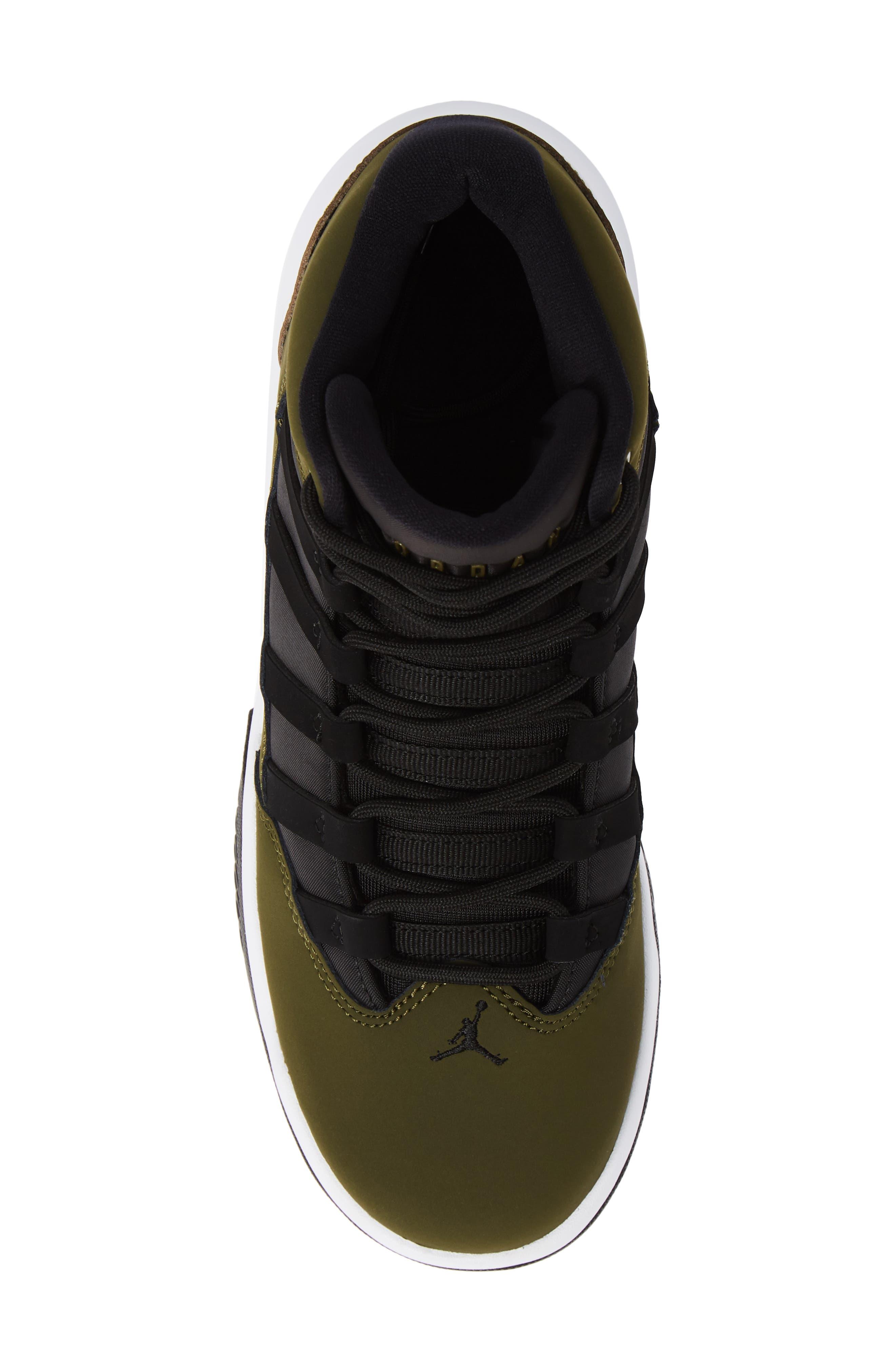 Jordan Max Aura Basketball Shoe,                             Alternate thumbnail 5, color,                             OLIVE CANVAS/ BLACK/ WHITE