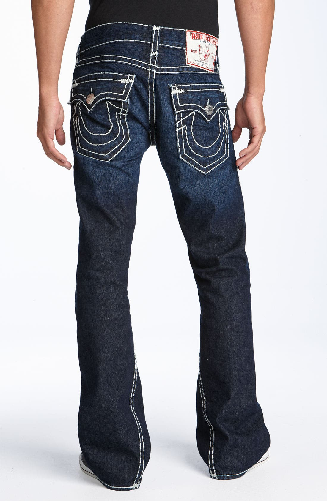 TRUE RELIGION BRAND JEANS 'Joey - Super T' Bootcut Jeans, Main, color, 400