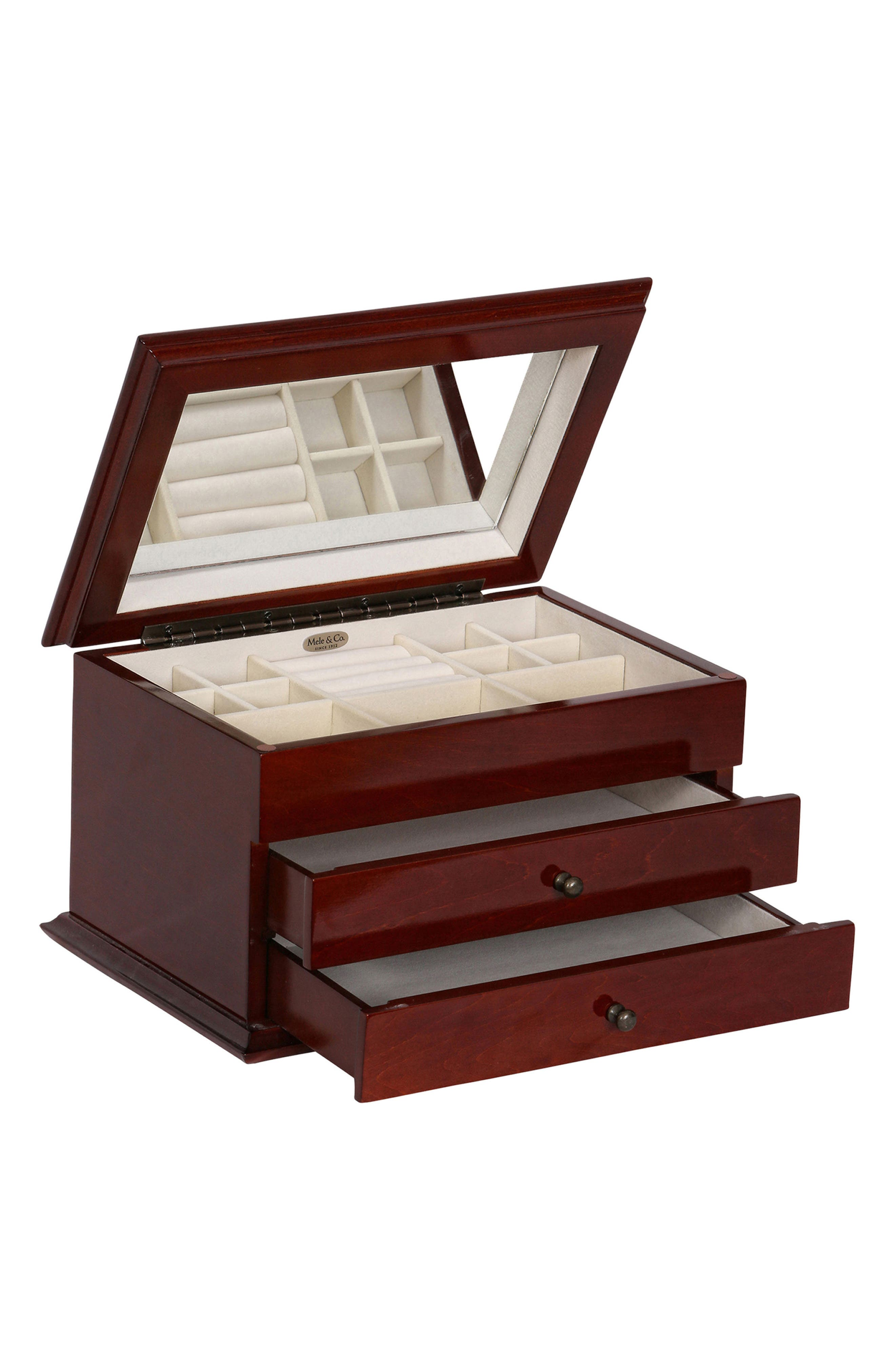 Brayden Wooden Jewelry Box,                             Alternate thumbnail 4, color,                             200