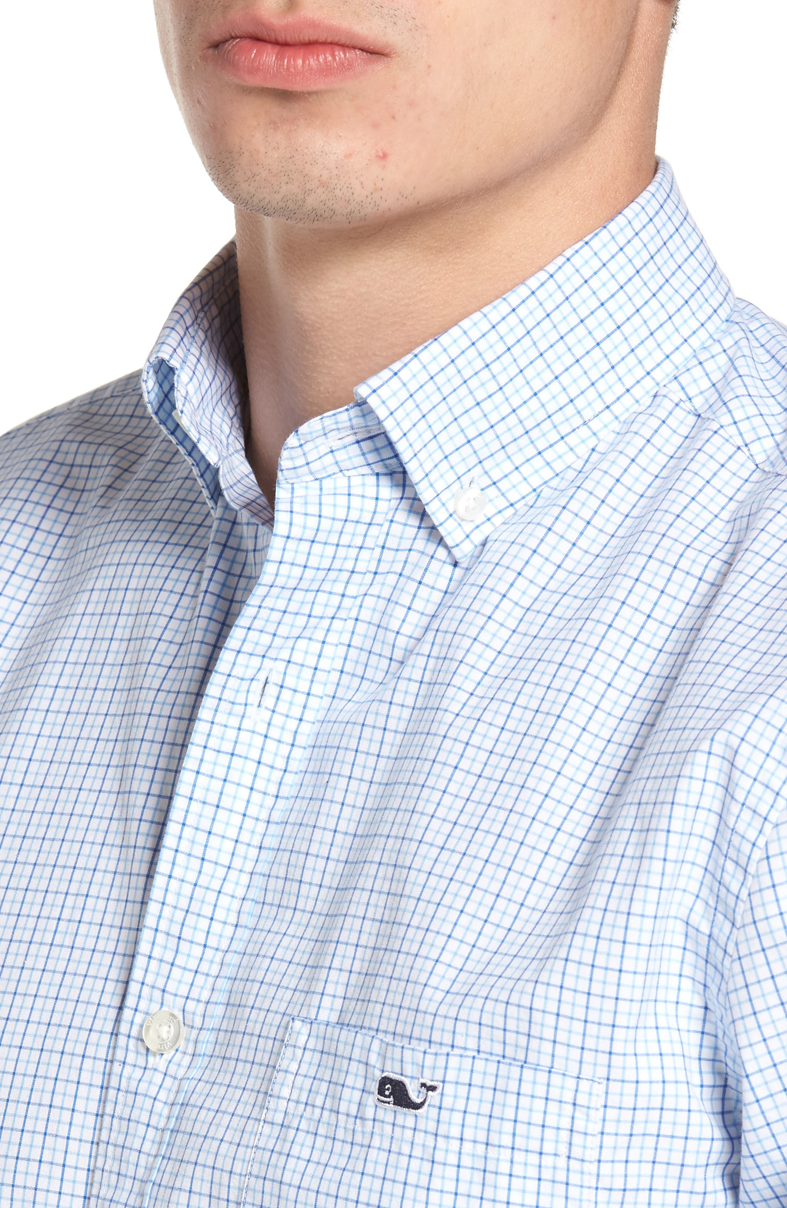 Twin Pond Classic Fit Tattersall Check Sport Shirt,                             Alternate thumbnail 4, color,                             484