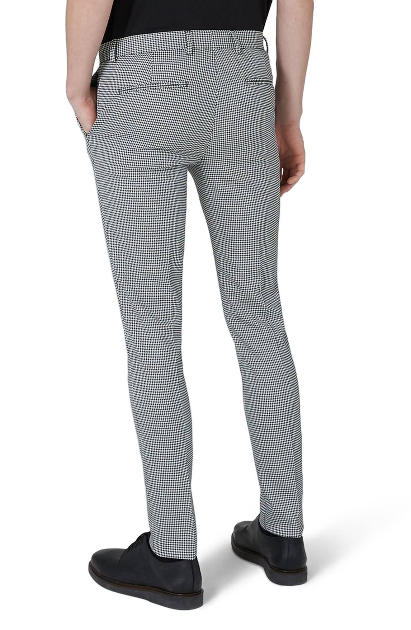 Ultra Skinny Fit Houndstooth Suit Trousers,                             Alternate thumbnail 2, color,