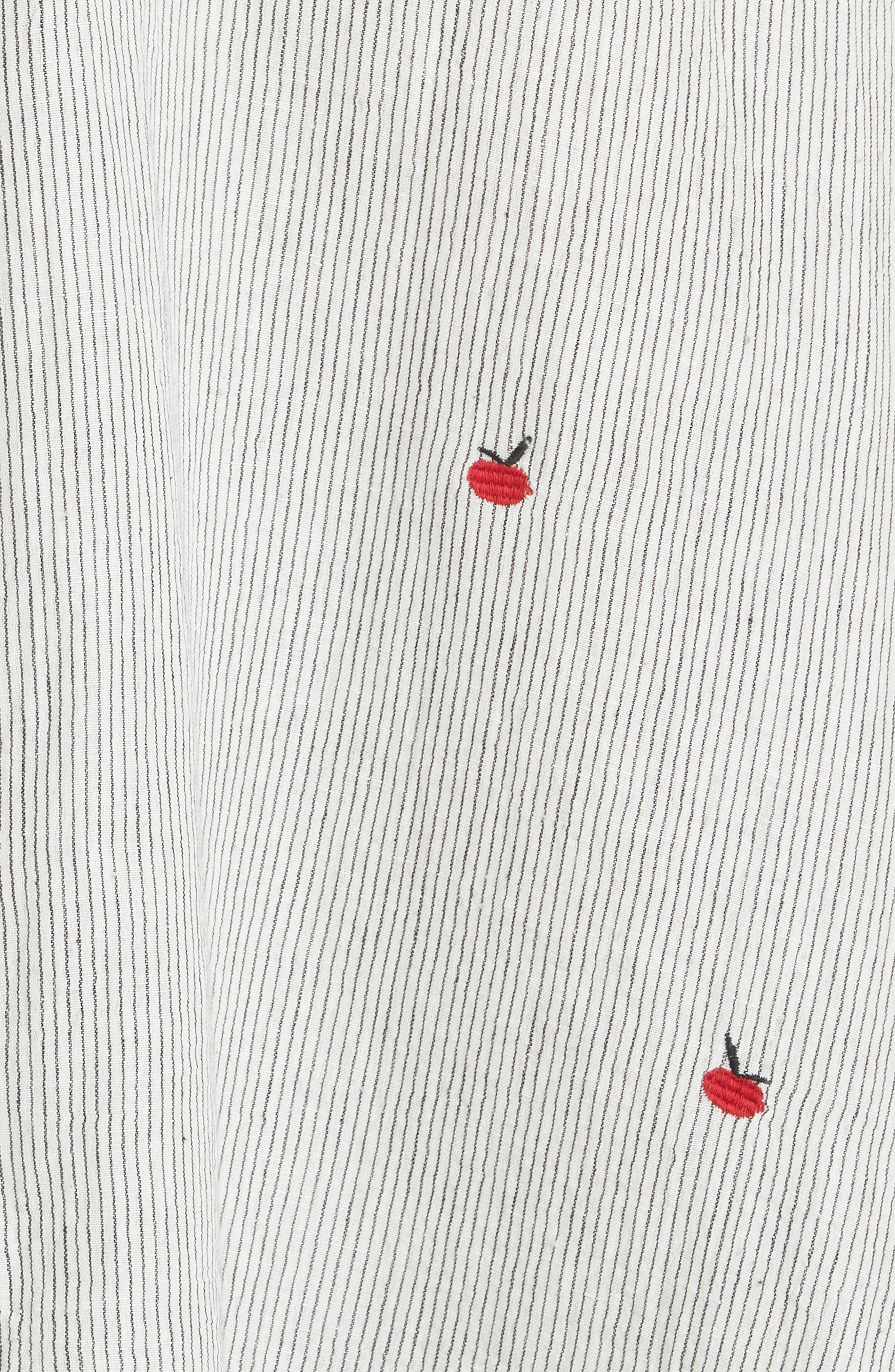 The Apron Dress,                             Alternate thumbnail 5, color,                             BLACK/ WHITE/ APPLE