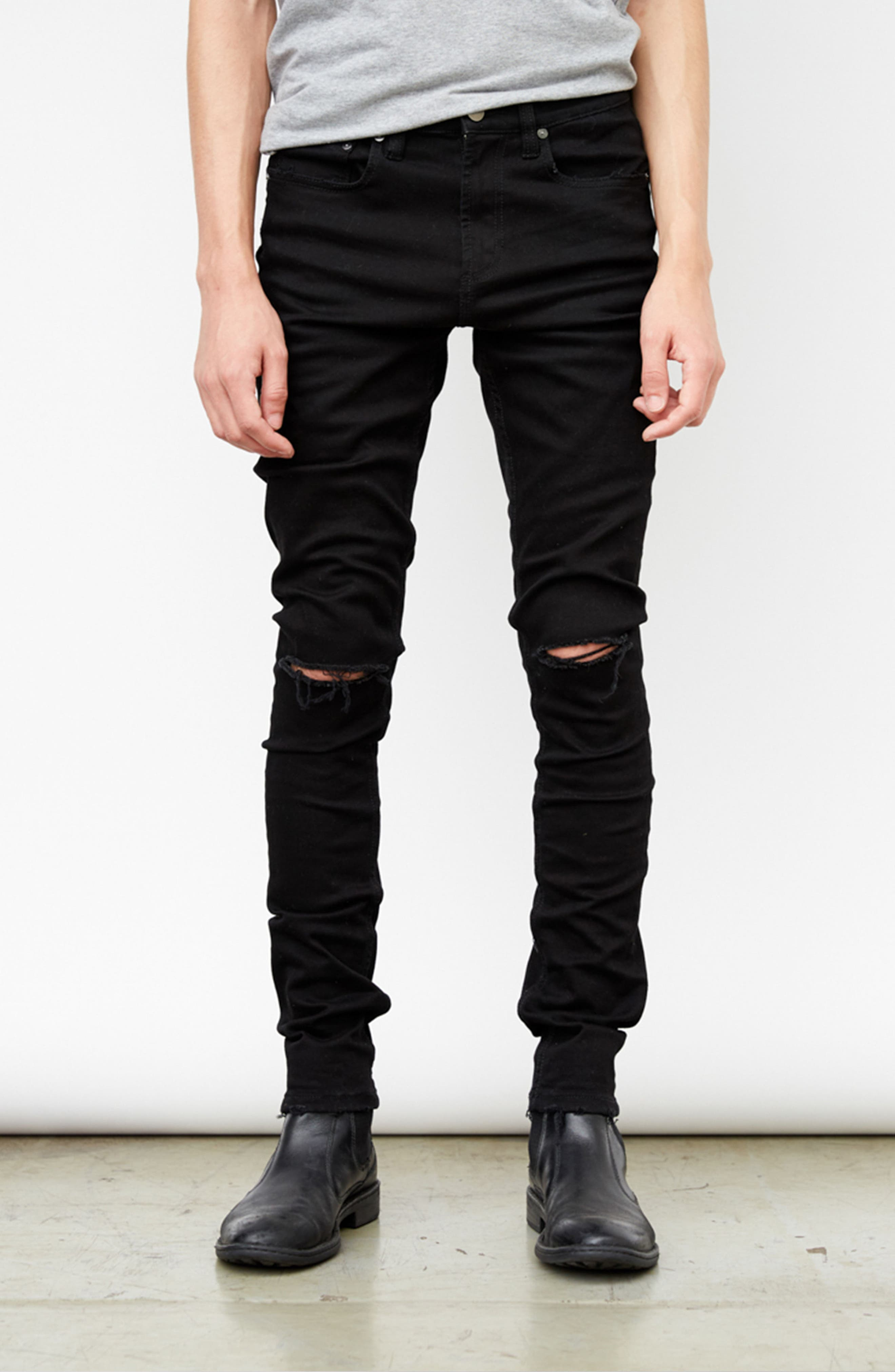 Horatio Distressed Skinny Fit Jeans,                             Alternate thumbnail 7, color,                             HIGH Q