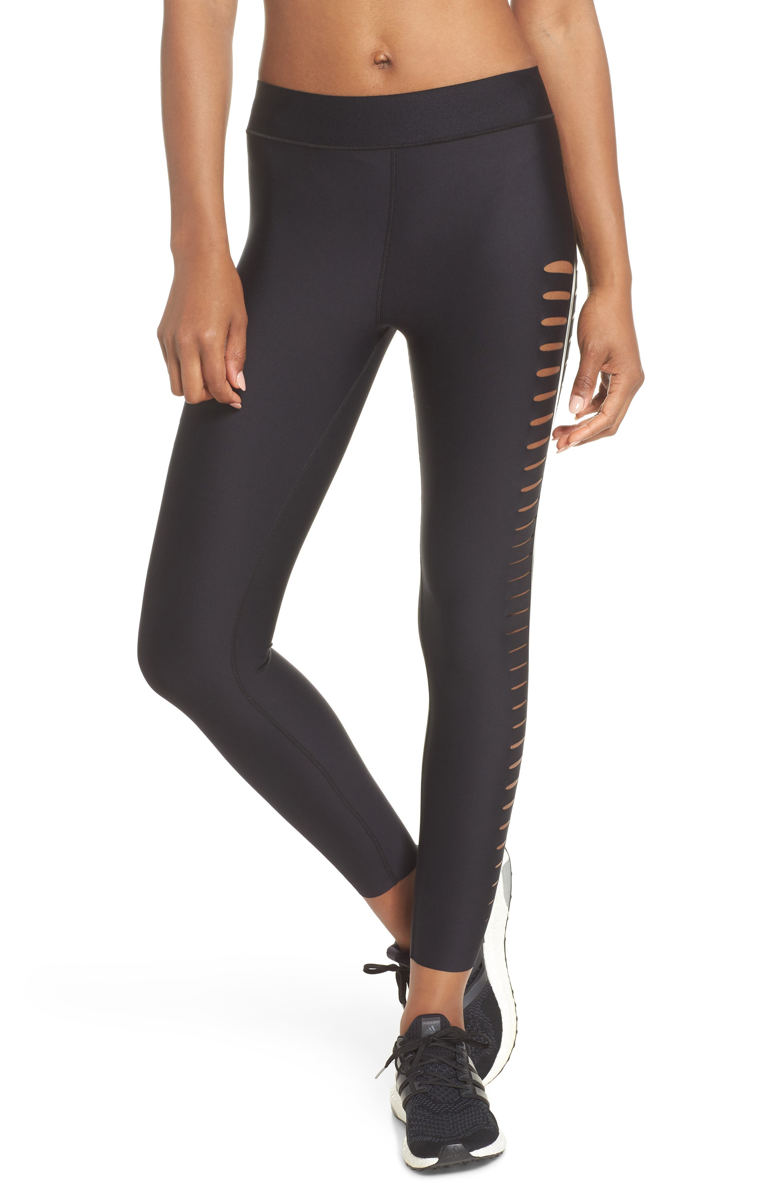ULTRACOR,                             Ultra Silk Slash Leggings,                             Main thumbnail 1, color,                             002
