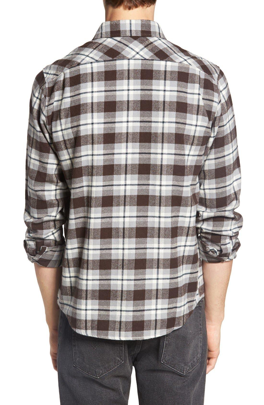 'That'll Work' Trim Fit Plaid Flannel Shirt,                             Alternate thumbnail 35, color,