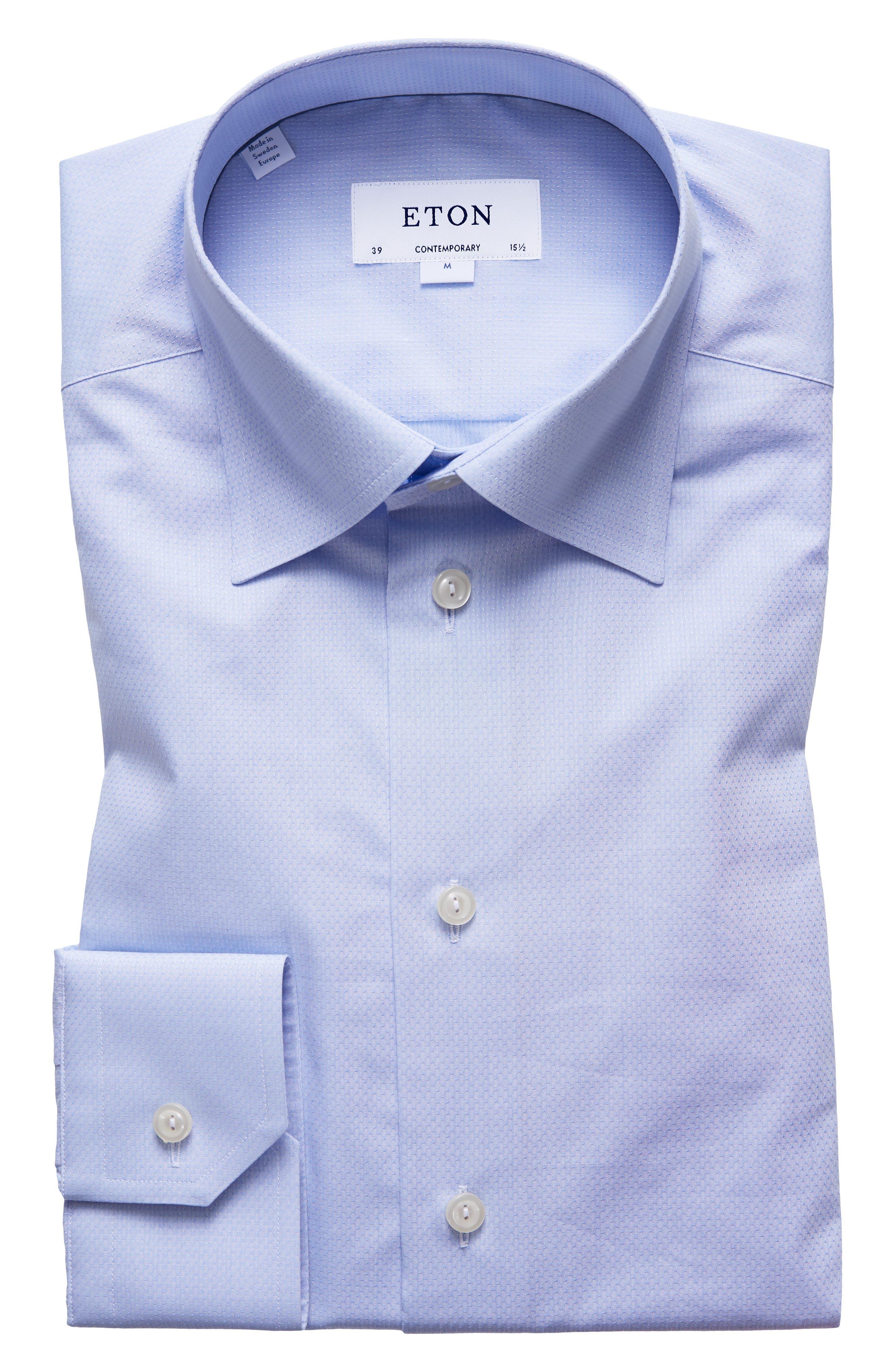 Contemporary Fit Solid Dress Shirt,                             Main thumbnail 1, color,                             BLUE