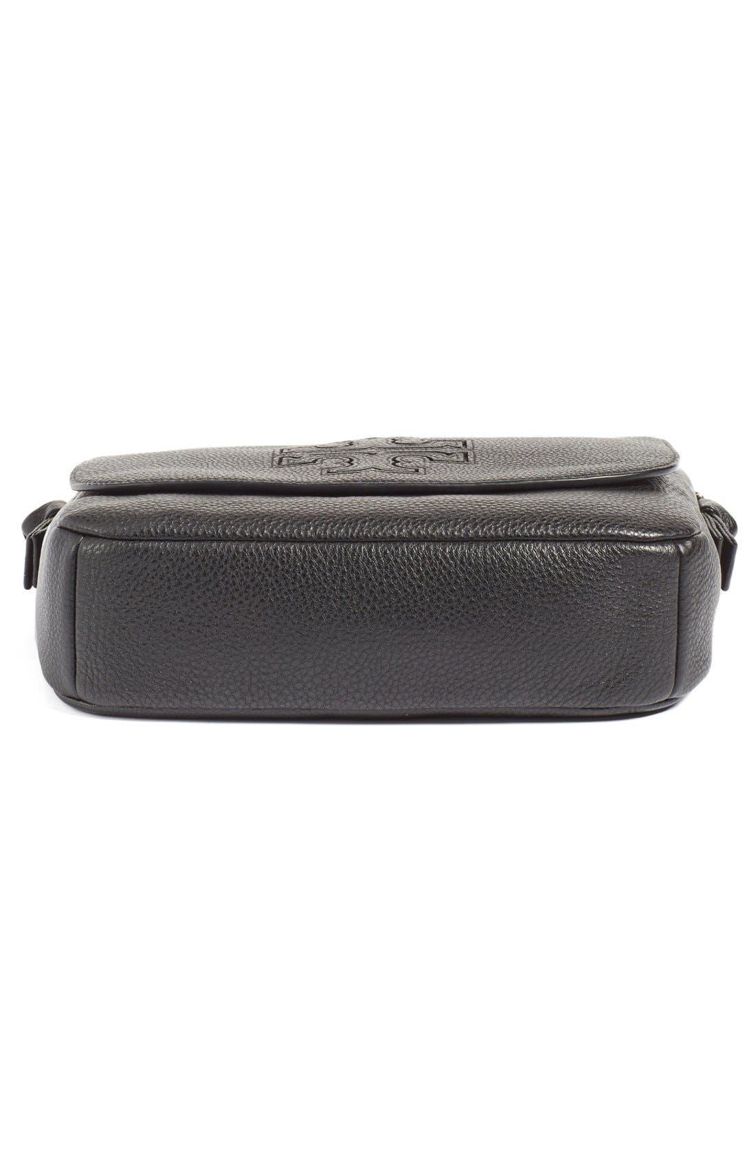 'Harper' Leather Crossbody Bag,                             Alternate thumbnail 6, color,                             012