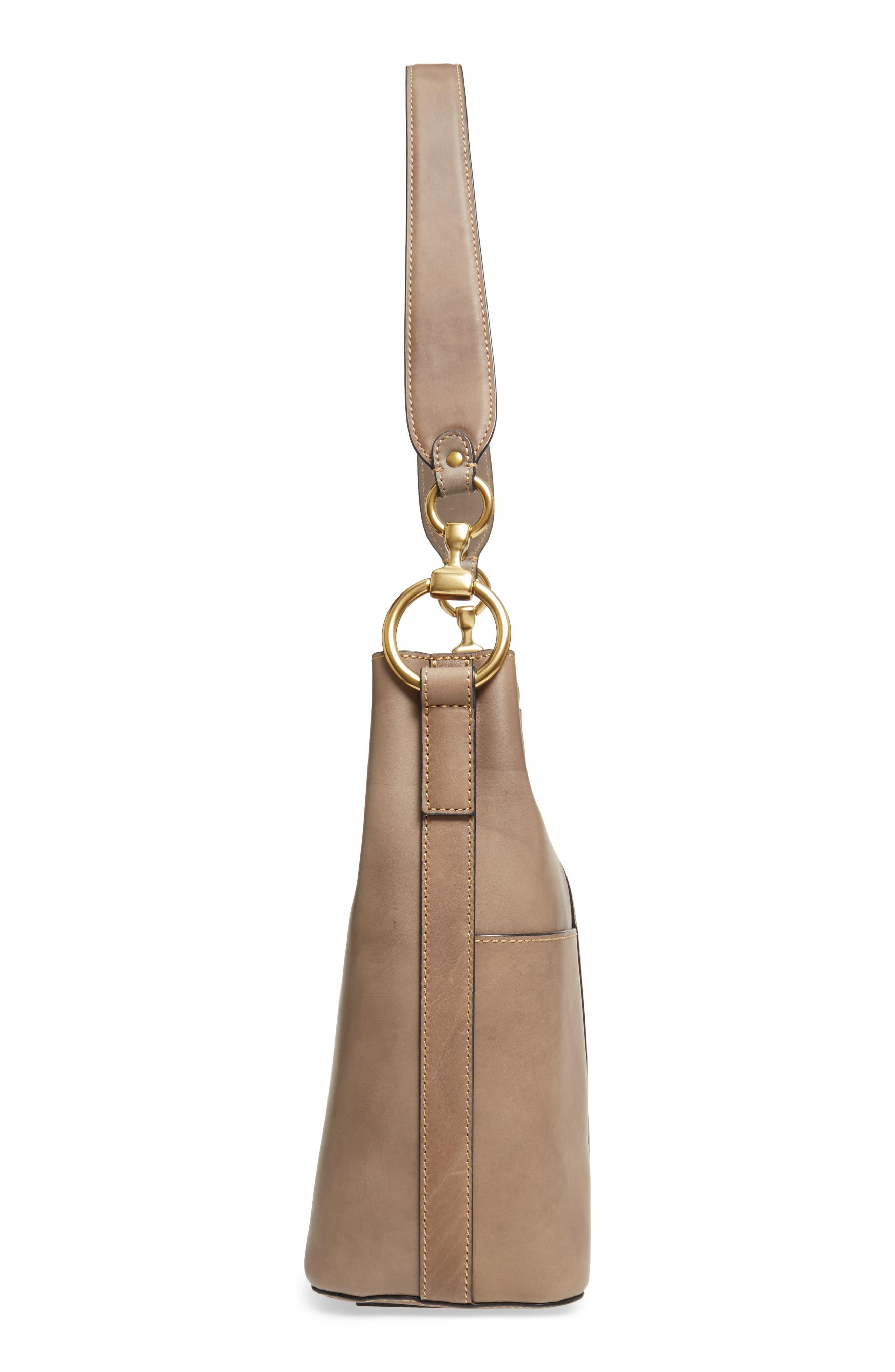 Ilana Leather Bucket Bag,                             Alternate thumbnail 5, color,                             030