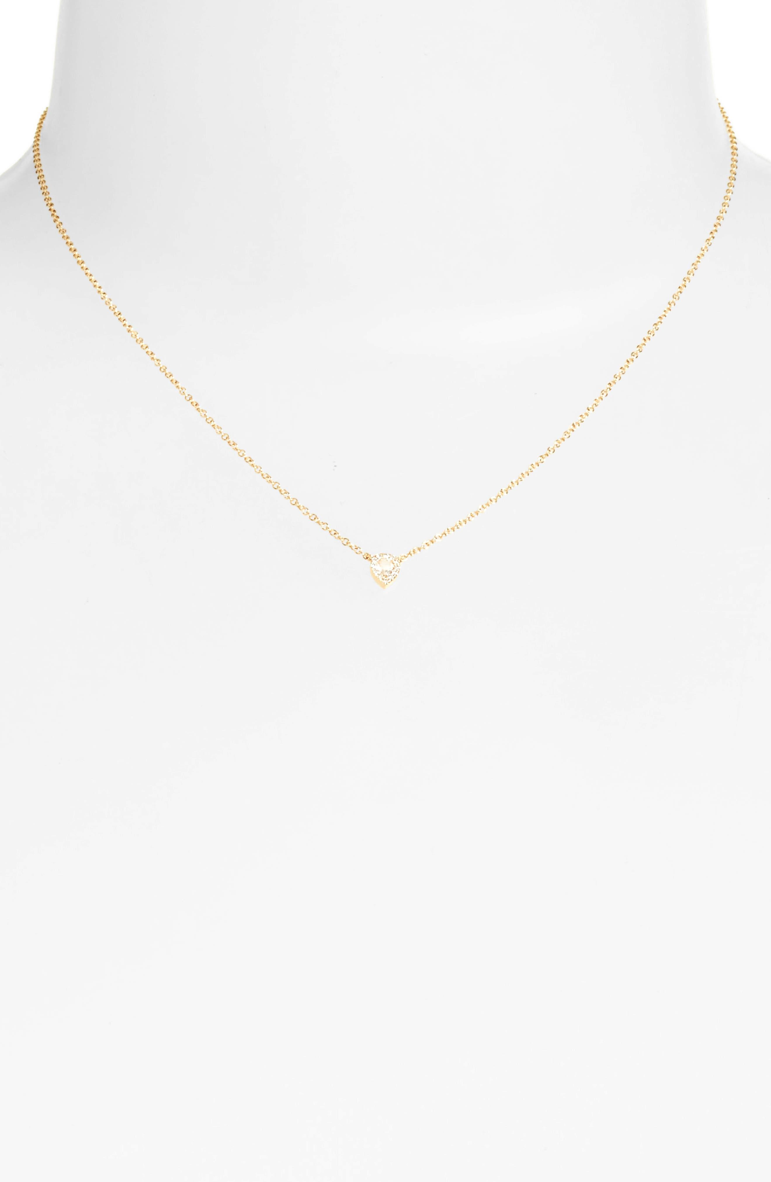 Diamond & Topaz Teardrop Pendant Necklace,                             Alternate thumbnail 2, color,                             YELLOW GOLD
