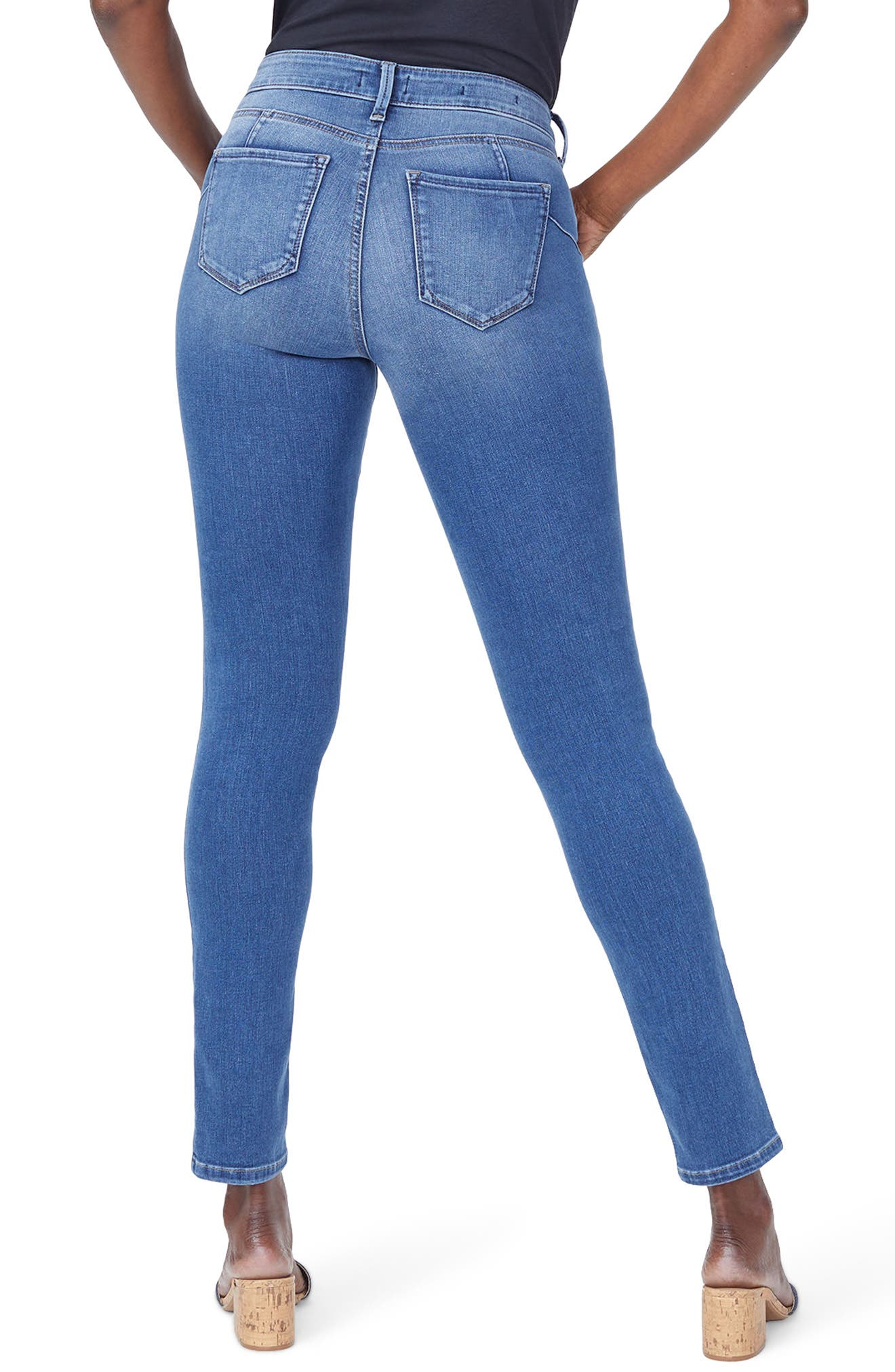 Alina High Waist Uplift Skinny Jeans,                             Alternate thumbnail 2, color,                             419