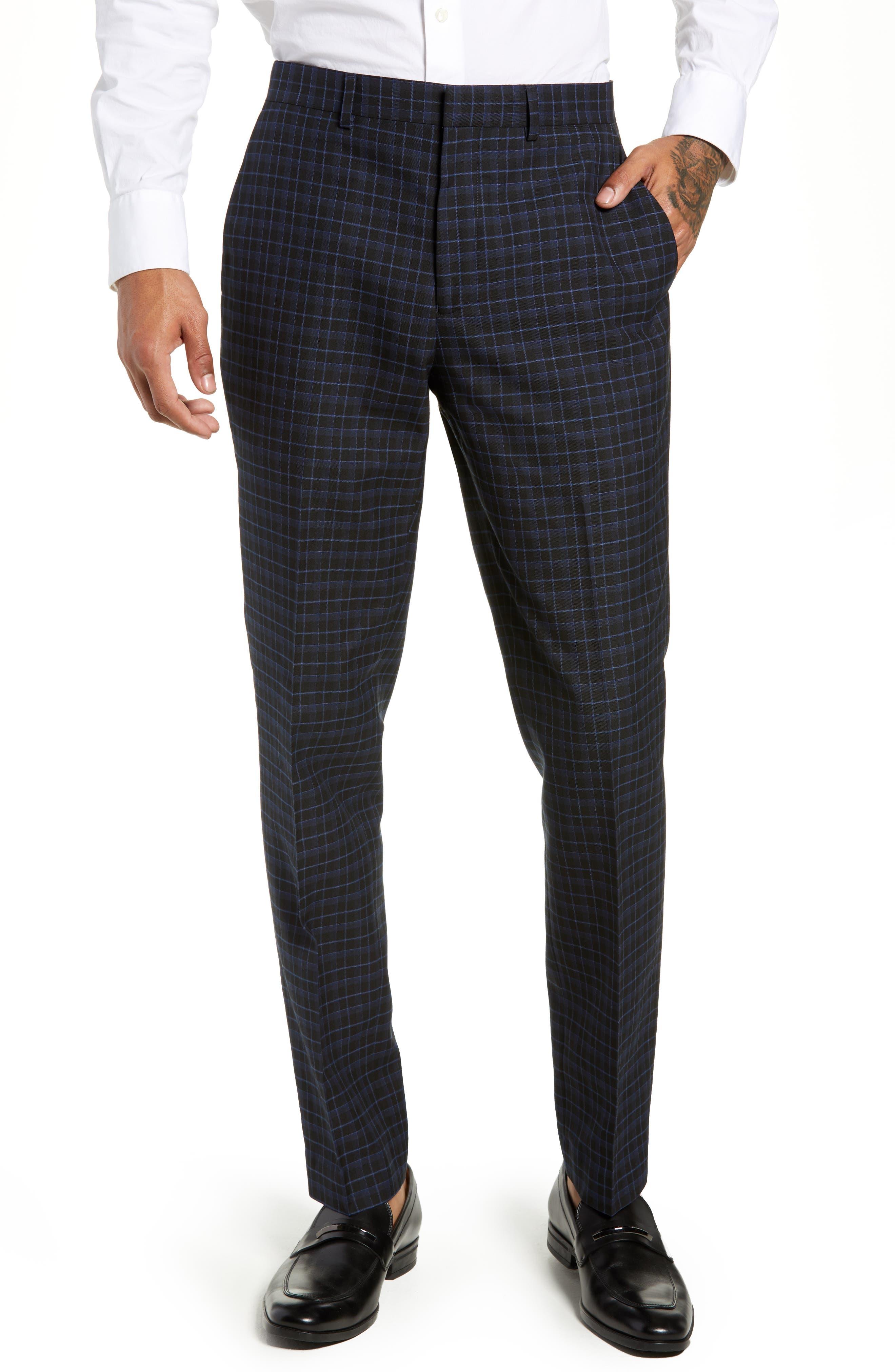 Alsager Slim Fit Check Suit Pants,                         Main,                         color, 021