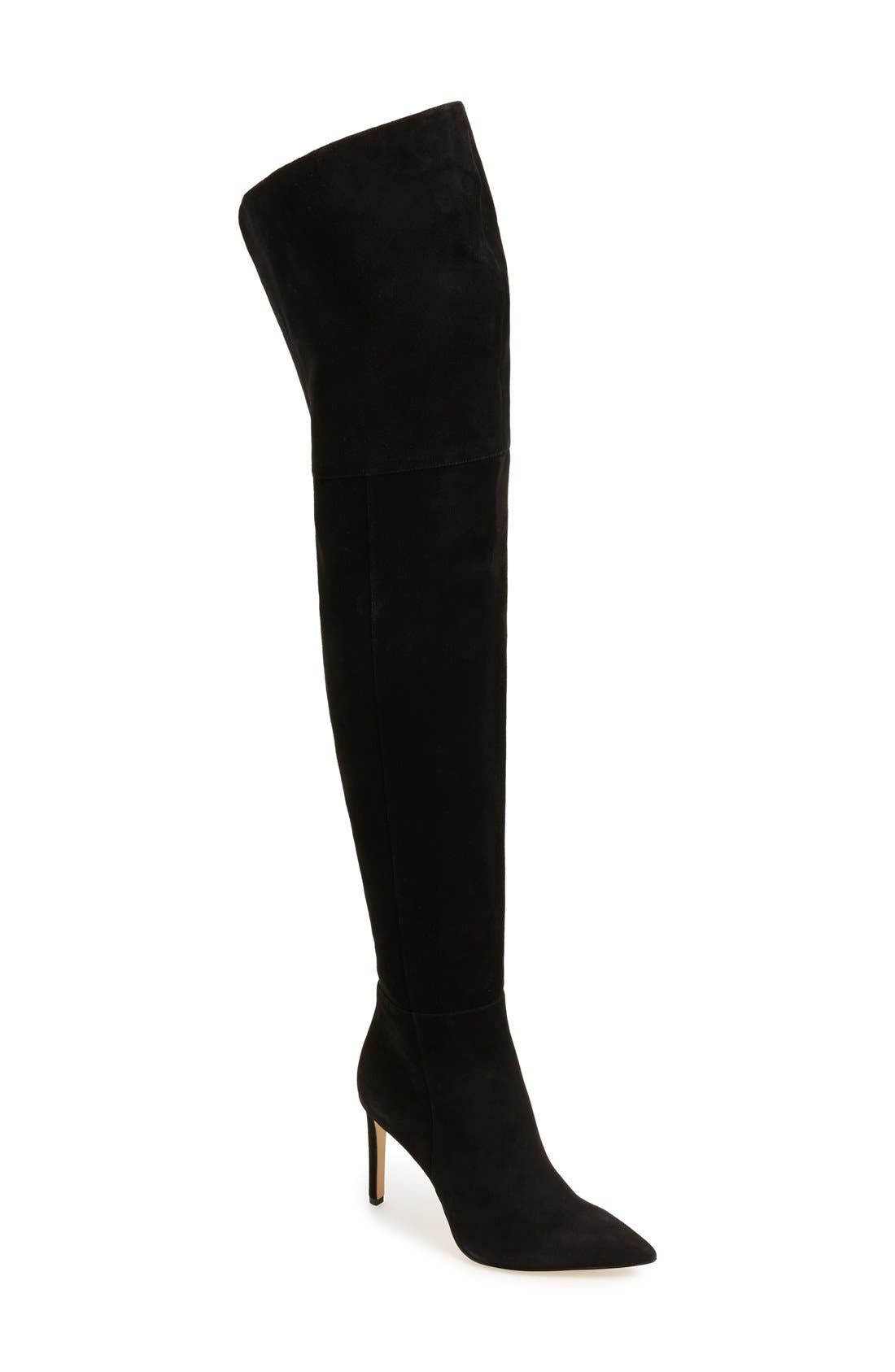 Bernadette Over the Knee Boot,                             Main thumbnail 1, color,                             001