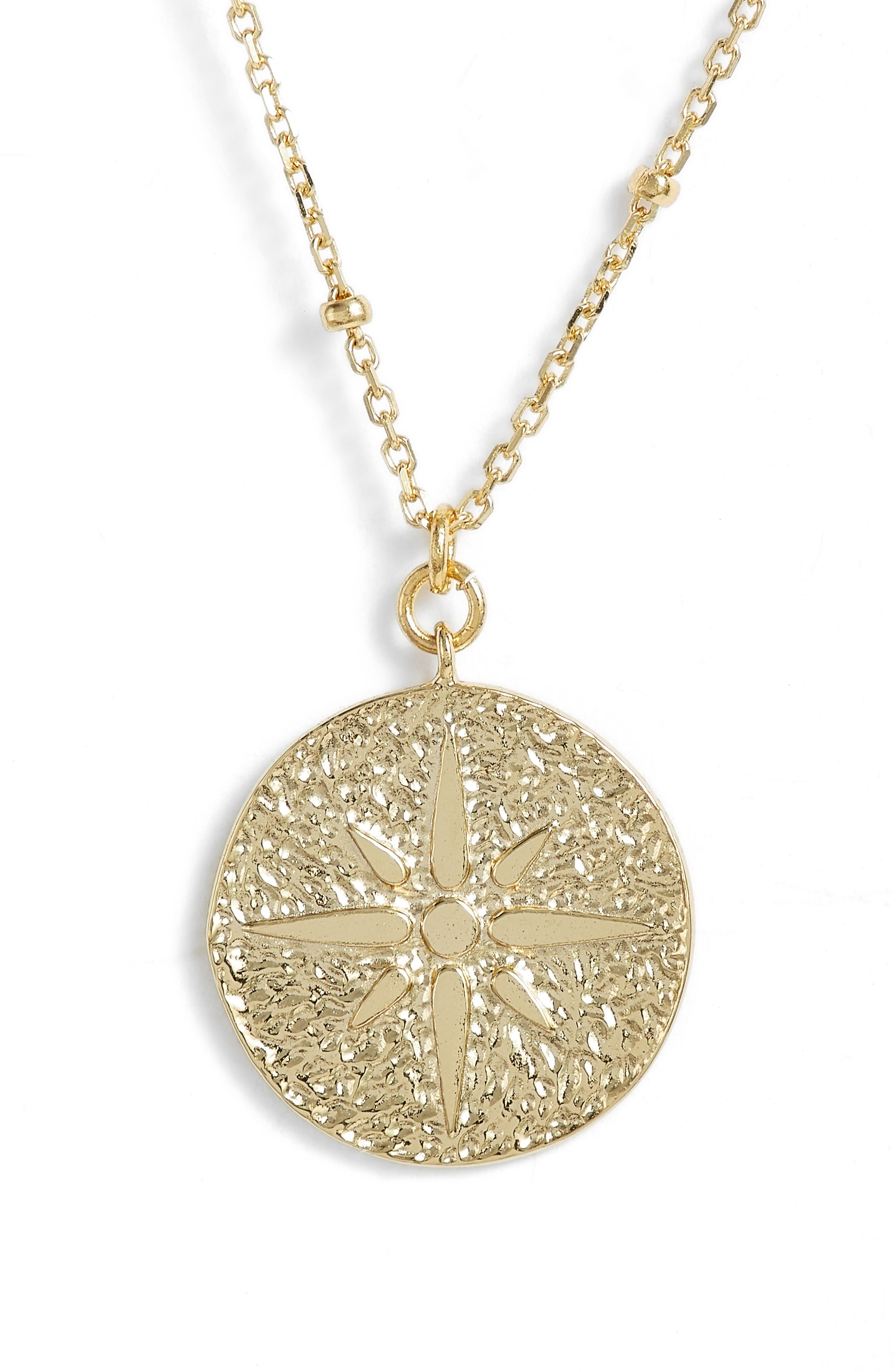 ARGENTO VIVO,                             North Star Medallion Necklace,                             Main thumbnail 1, color,                             710