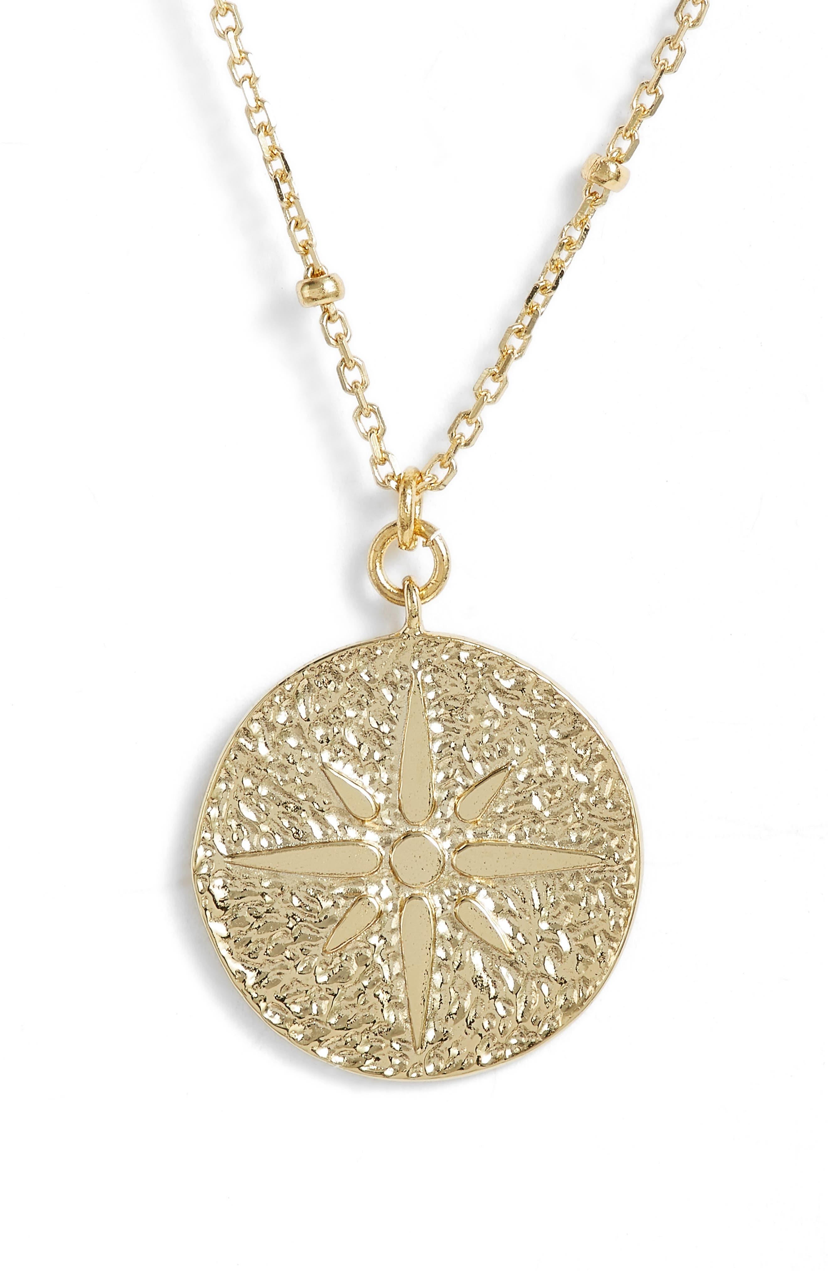 ARGENTO VIVO North Star Medallion Necklace, Main, color, 710
