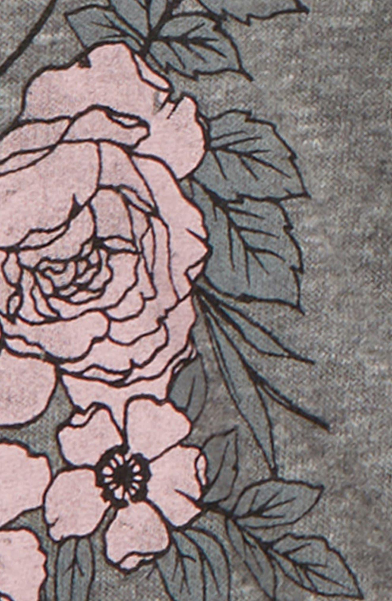 Rose Zip Hoodie,                             Alternate thumbnail 3, color,                             030