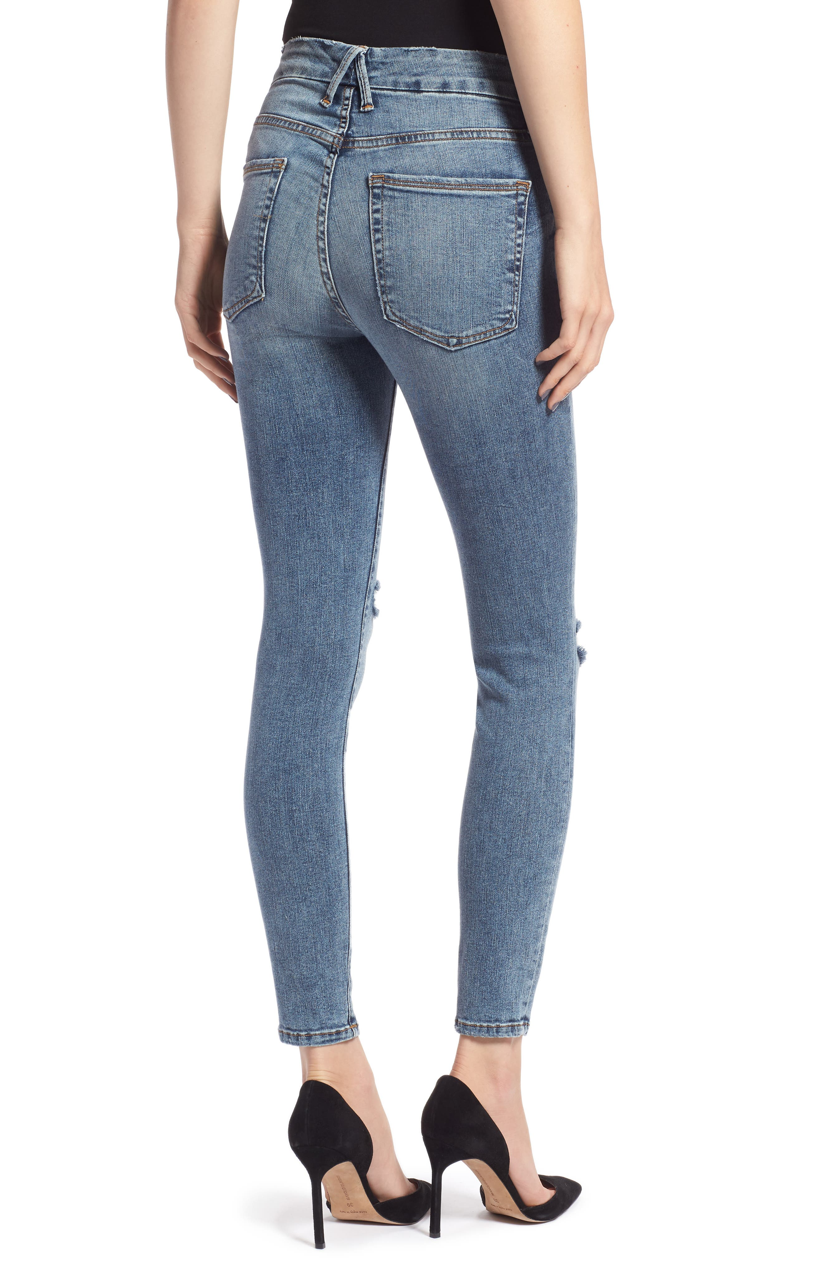 Good Legs Ankle Skinny Jeans,                             Alternate thumbnail 2, color,                             BLUE 129