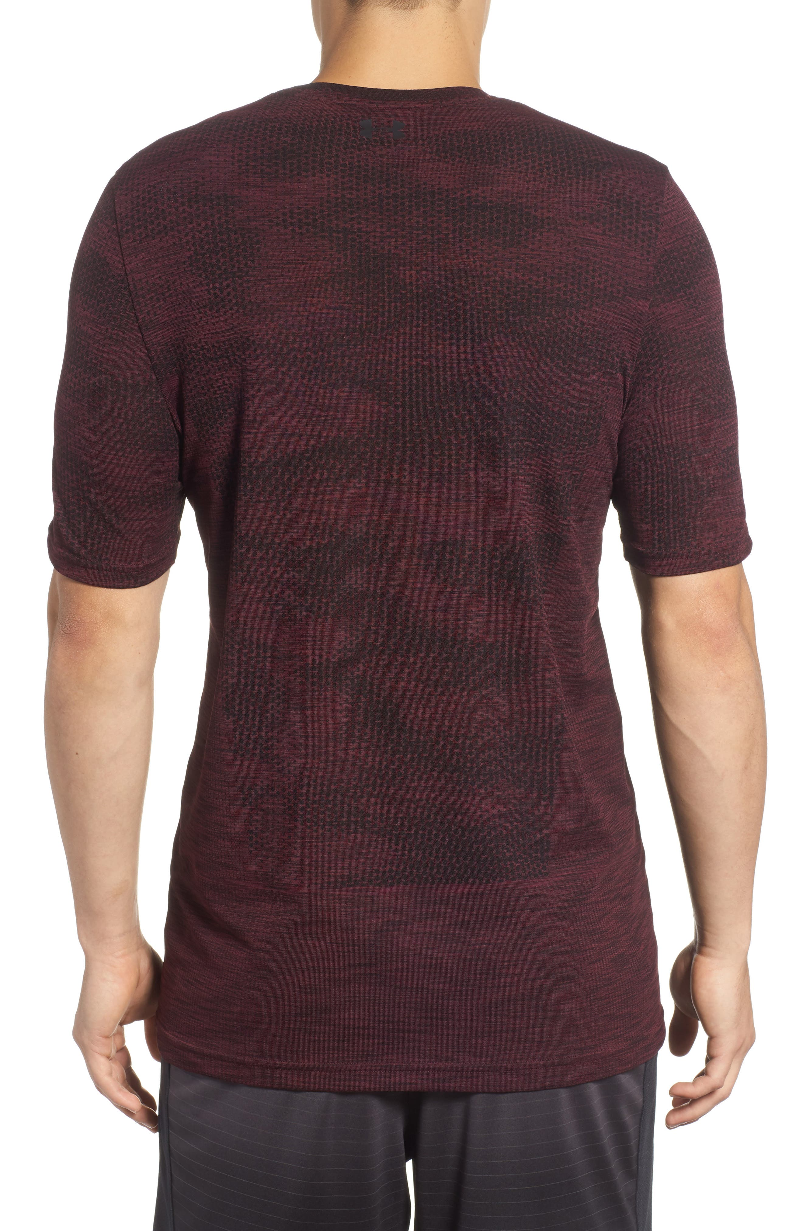 Siphon Camo Print Performance T-Shirt,                             Alternate thumbnail 2, color,                             DARK MAROON