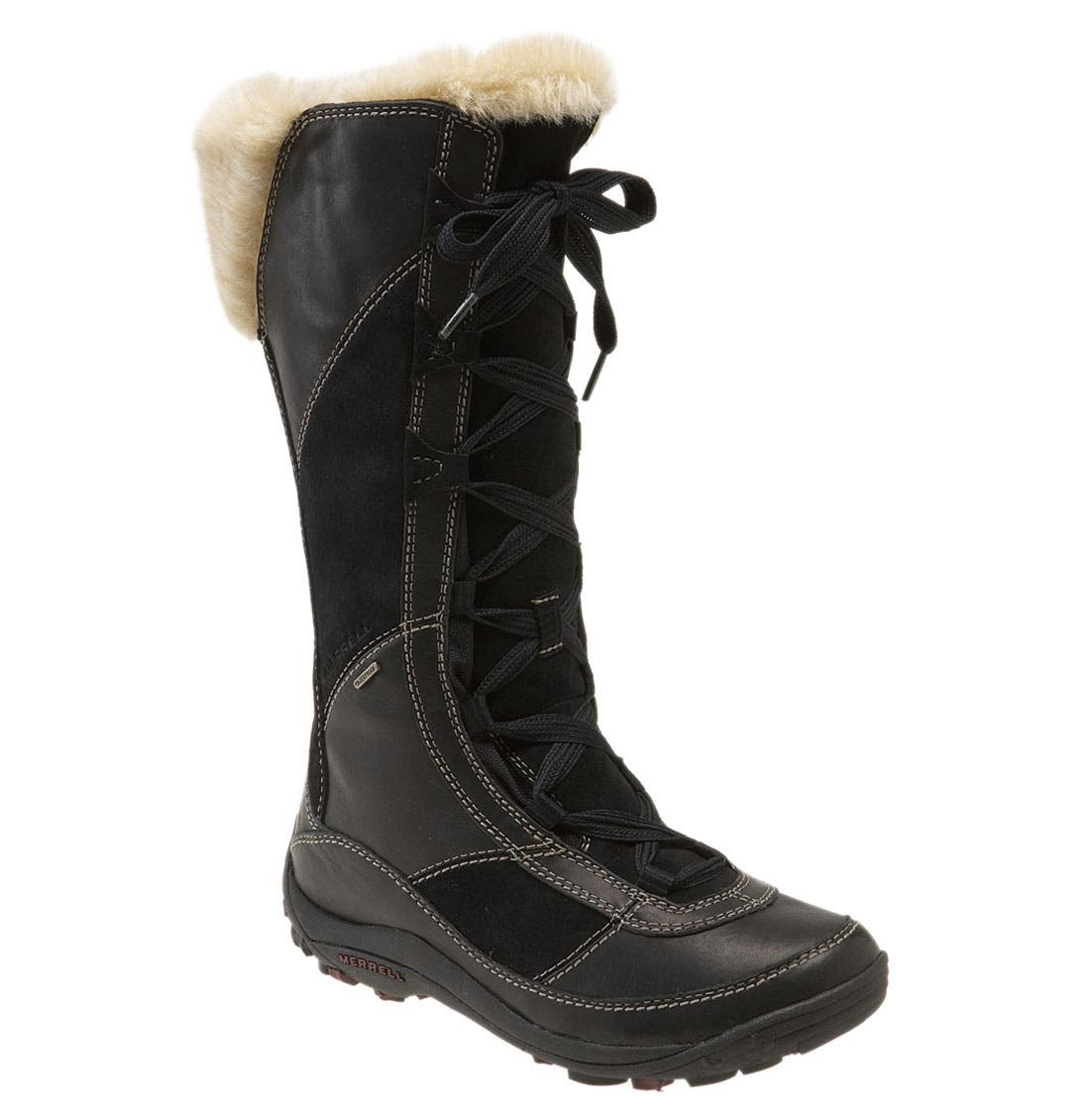 'Prevoz' Waterproof Tall Boot, Main, color, 001