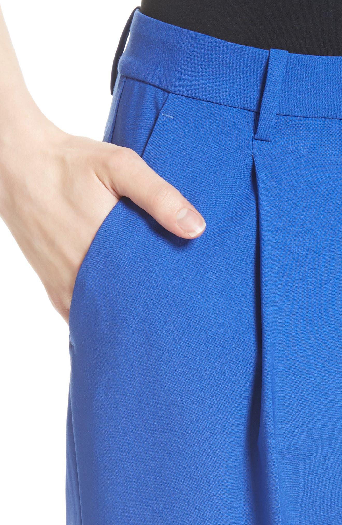 Pleat Front Pants,                             Alternate thumbnail 8, color,