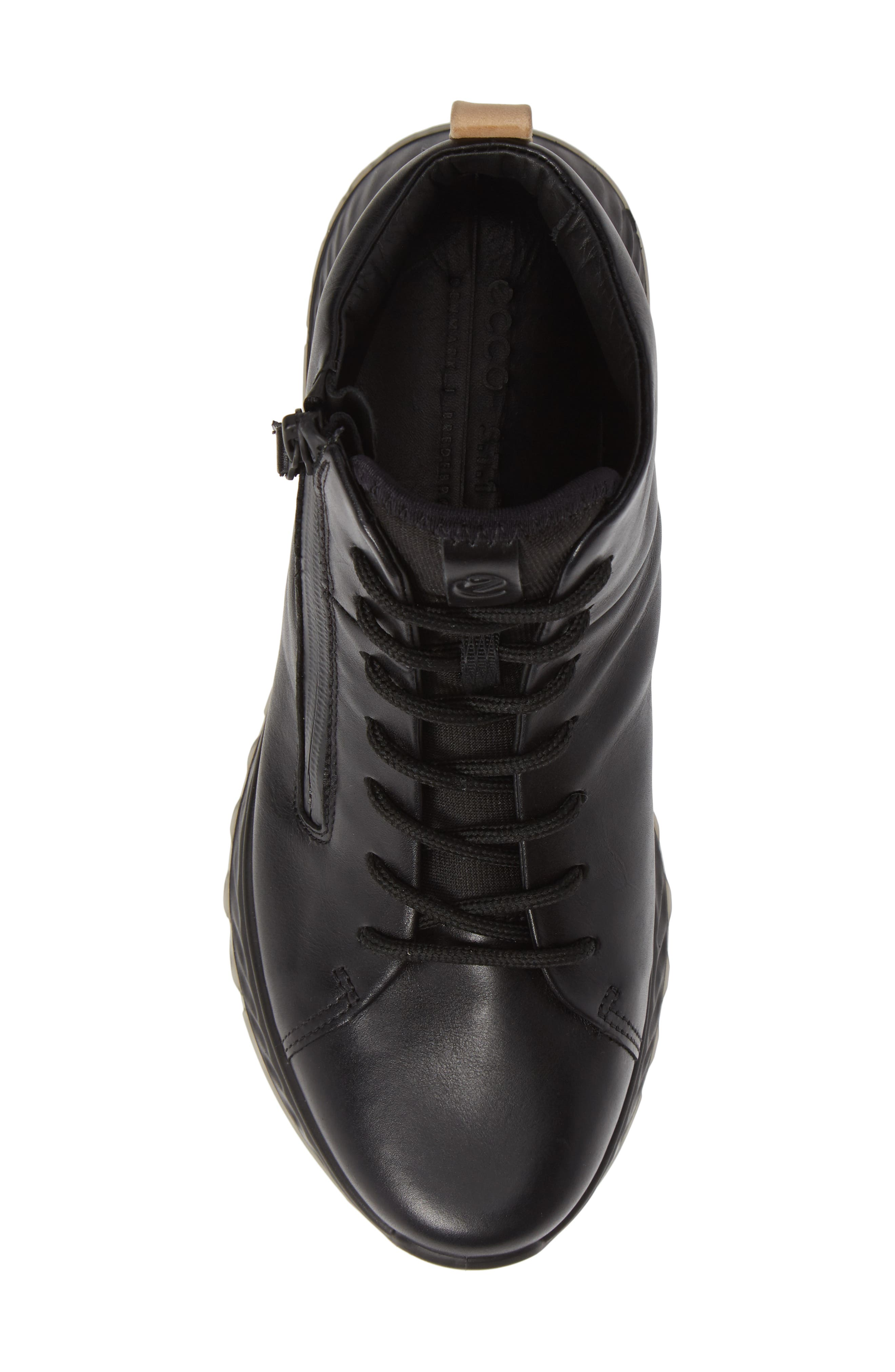 ST1 High Top Sneaker,                             Alternate thumbnail 5, color,                             BLACK LEATHER